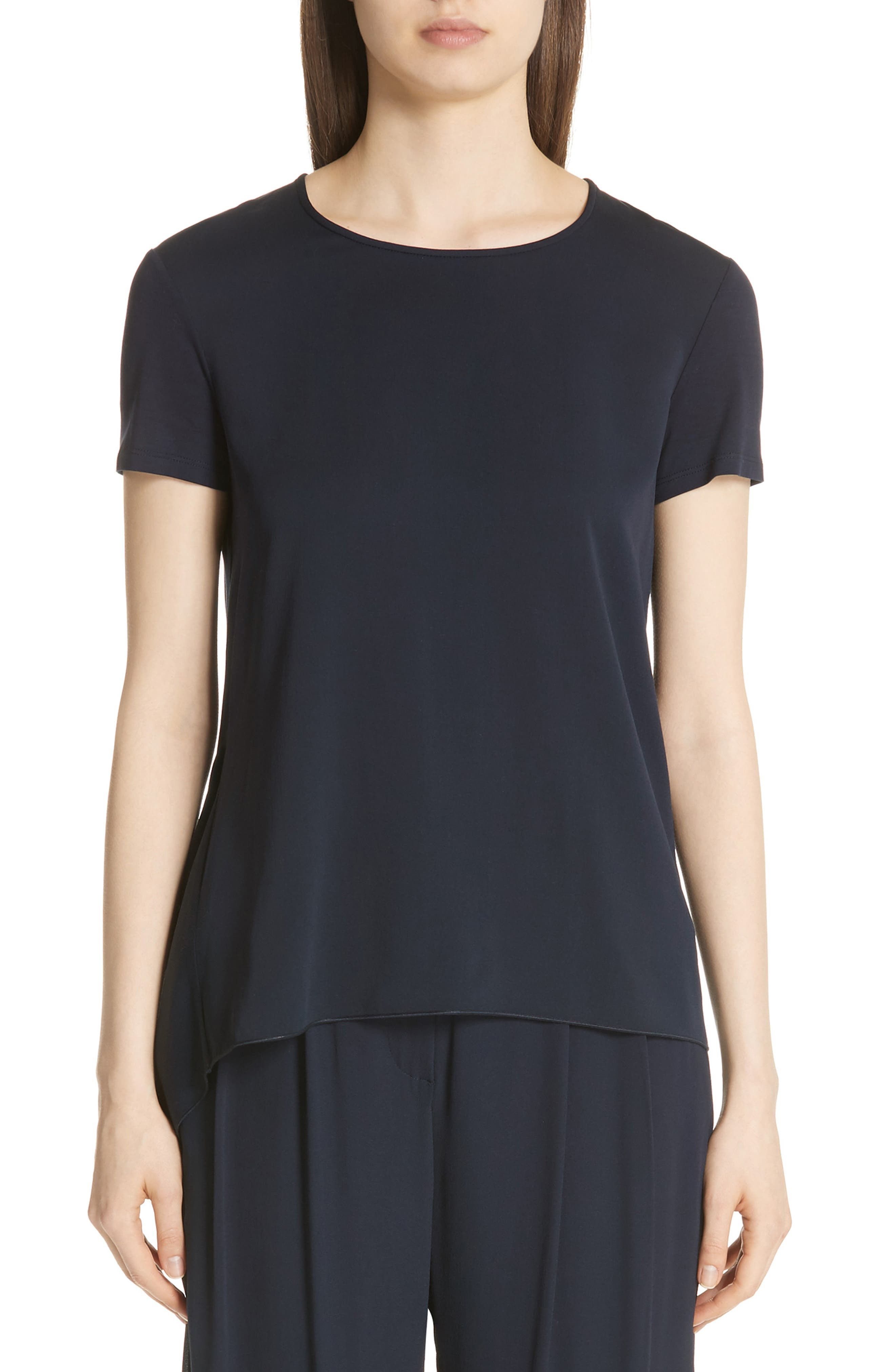 Bronte Jersey Back Silk Charmeuse Tee by Max Mara