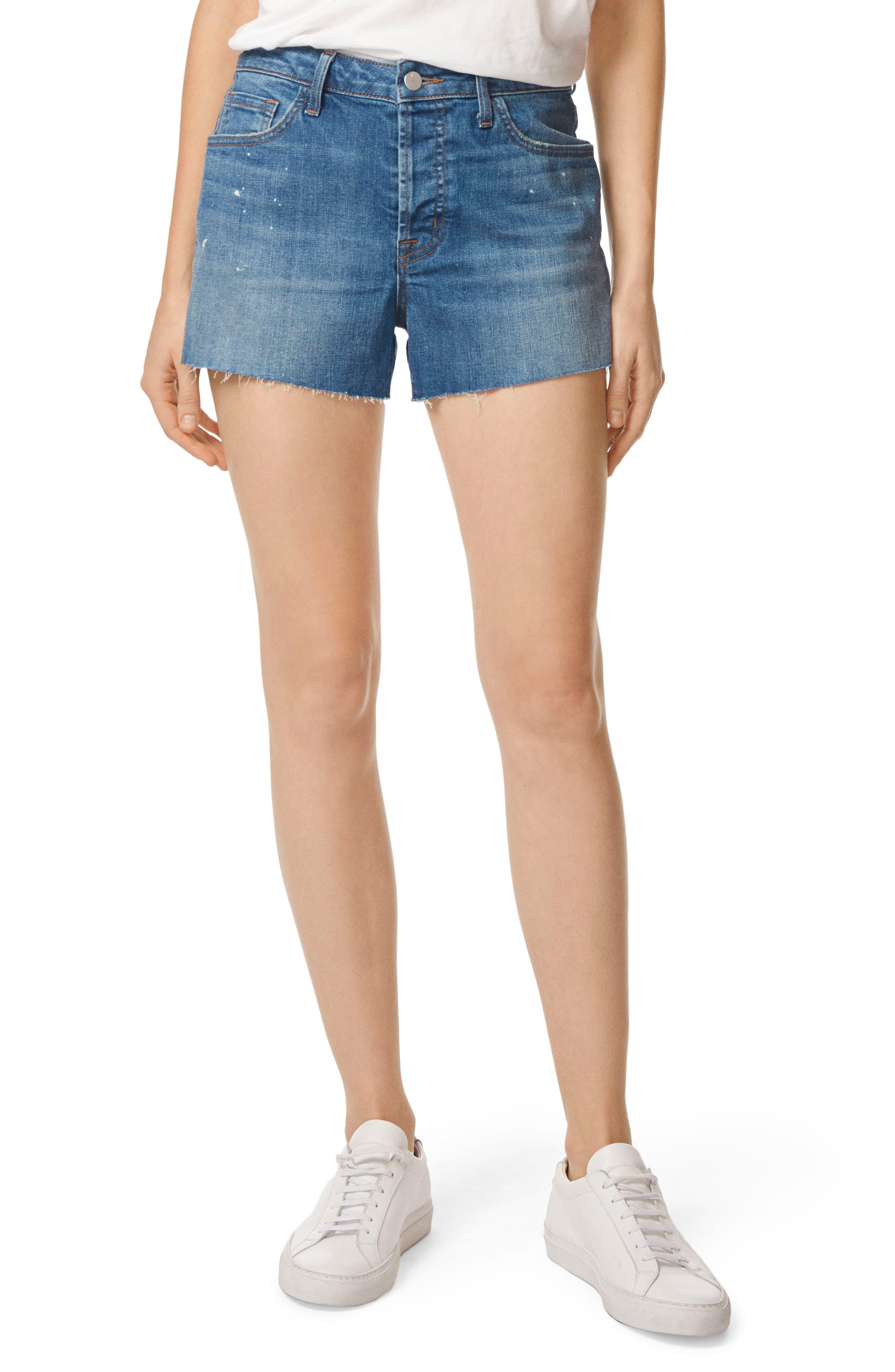 J Brand Gracie High Waist Cutoff Denim Shorts (Indiana)