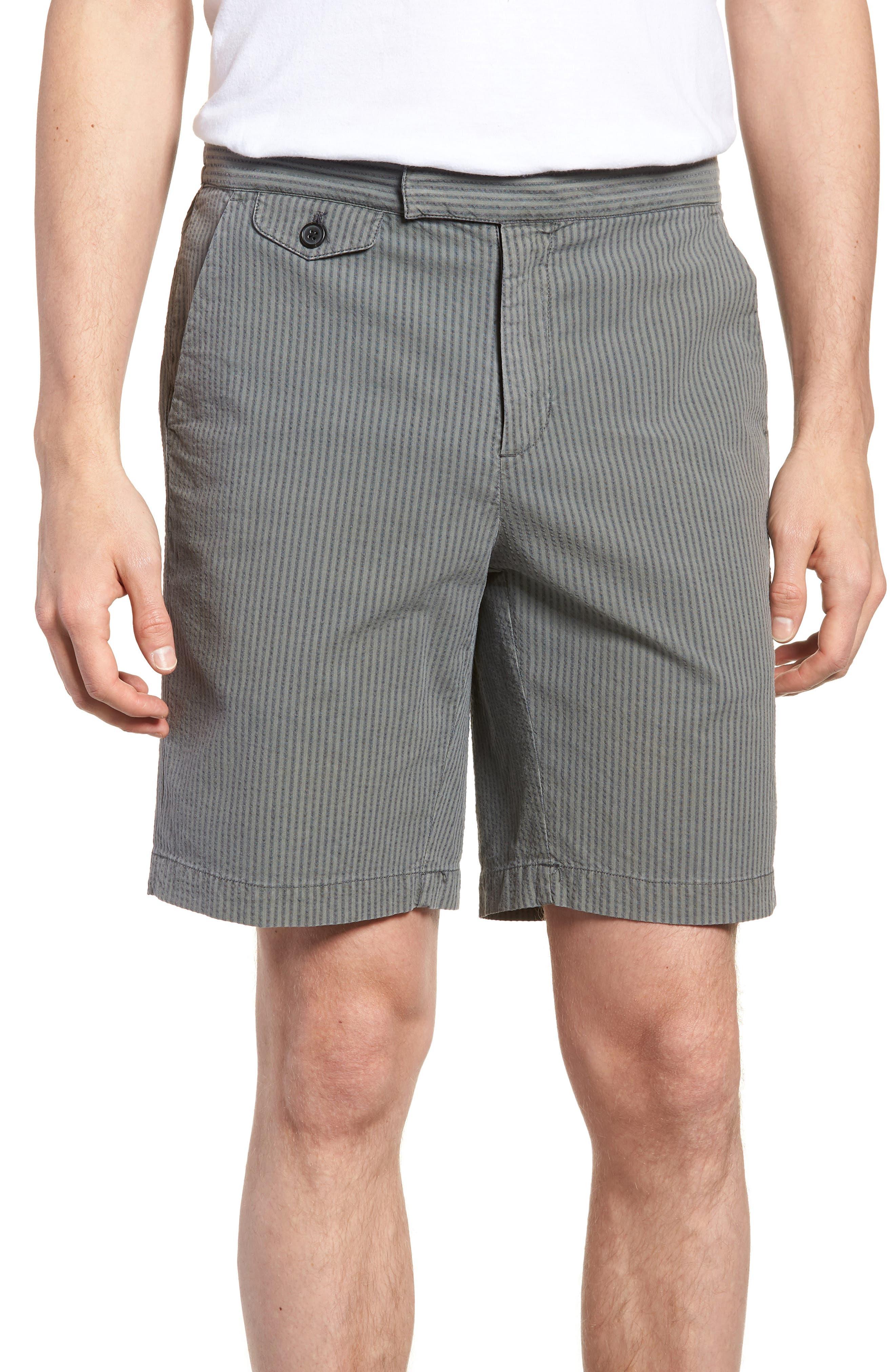 Michael Bastian Garment Dyed Flat Front Shorts