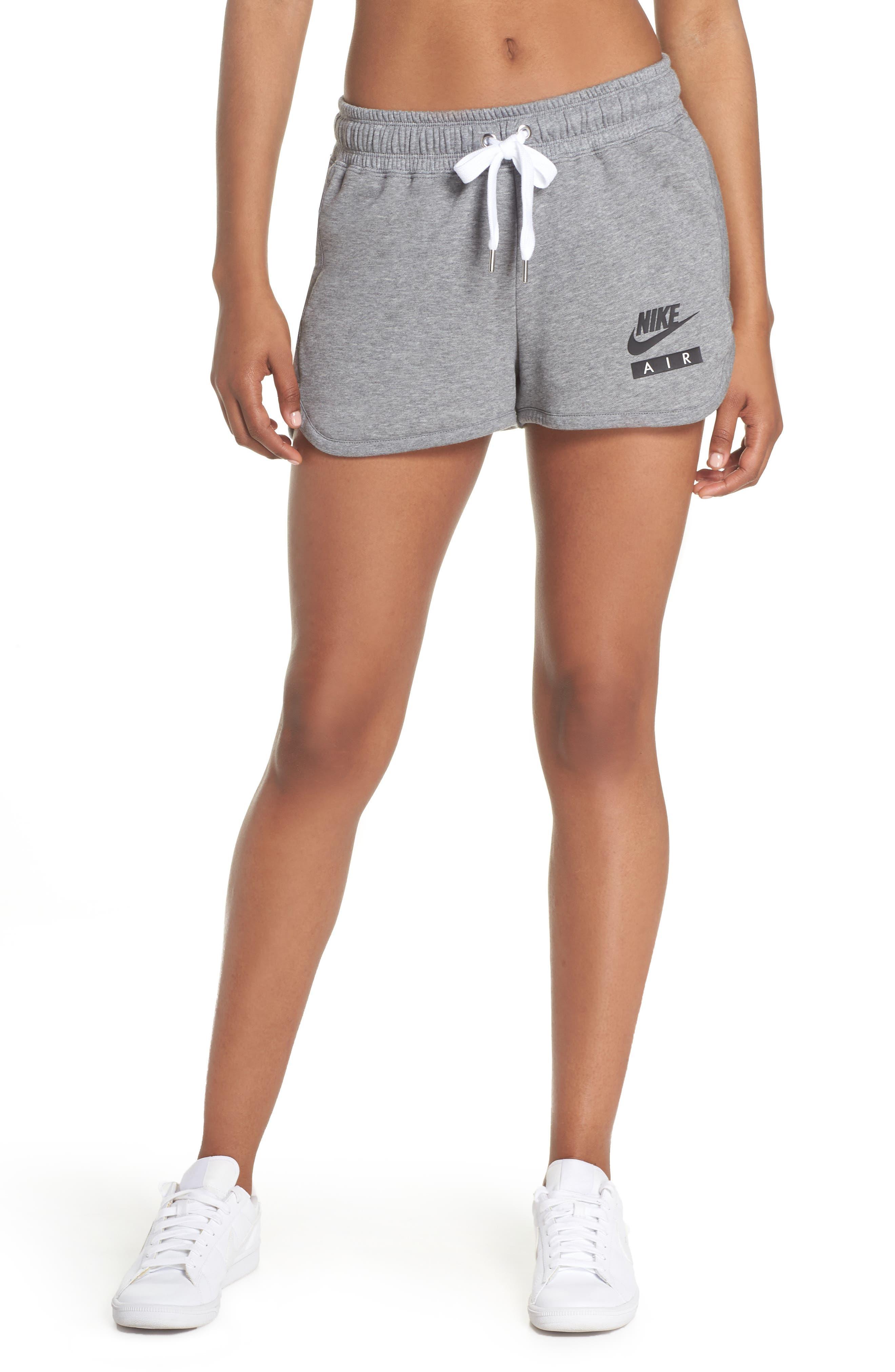 Sportswear Air Gym Shorts,                             Main thumbnail 1, color,                             Carbon Heather/ White/ Black