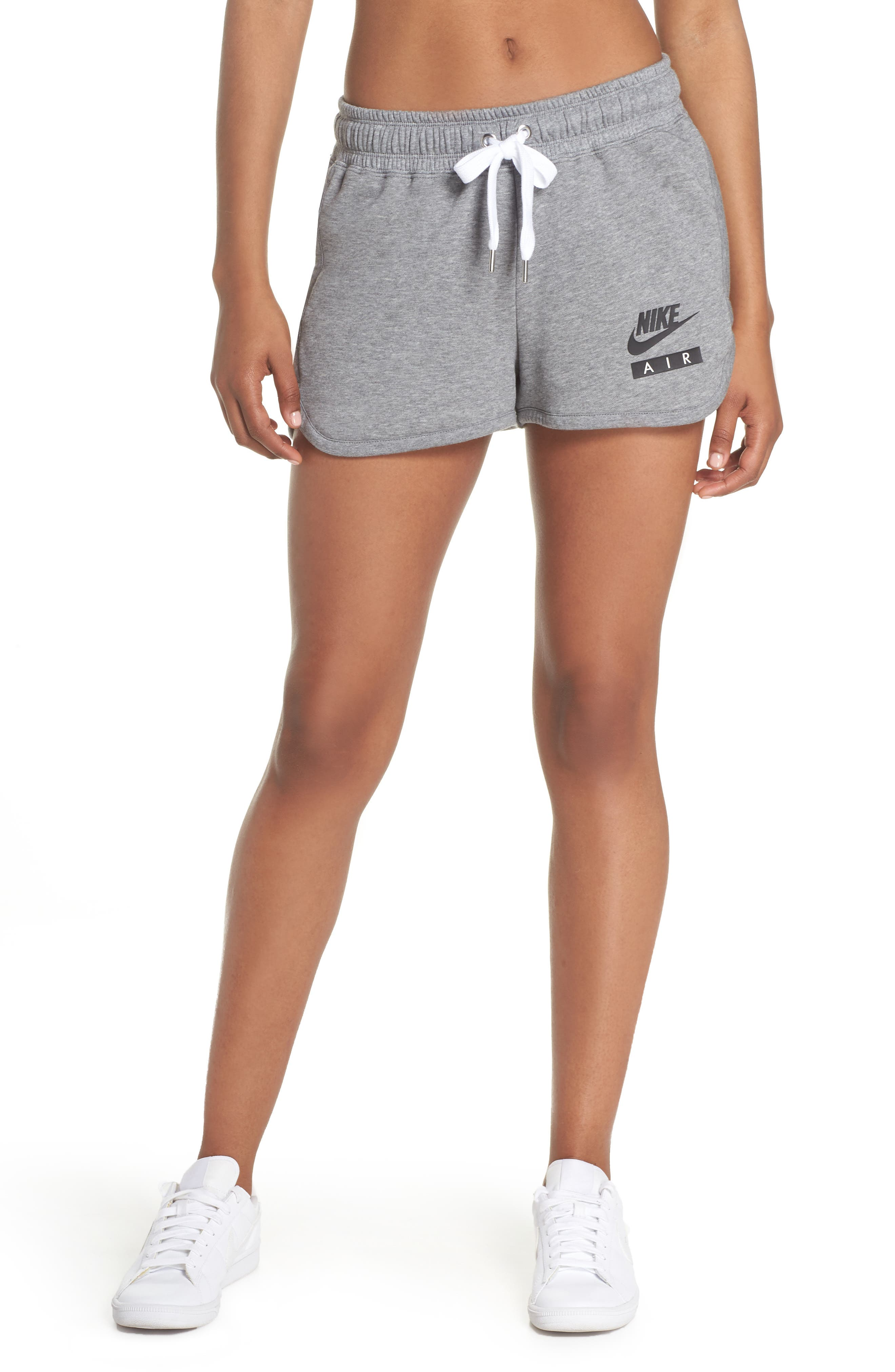 Sportswear Air Gym Shorts,                         Main,                         color, Carbon Heather/ White/ Black