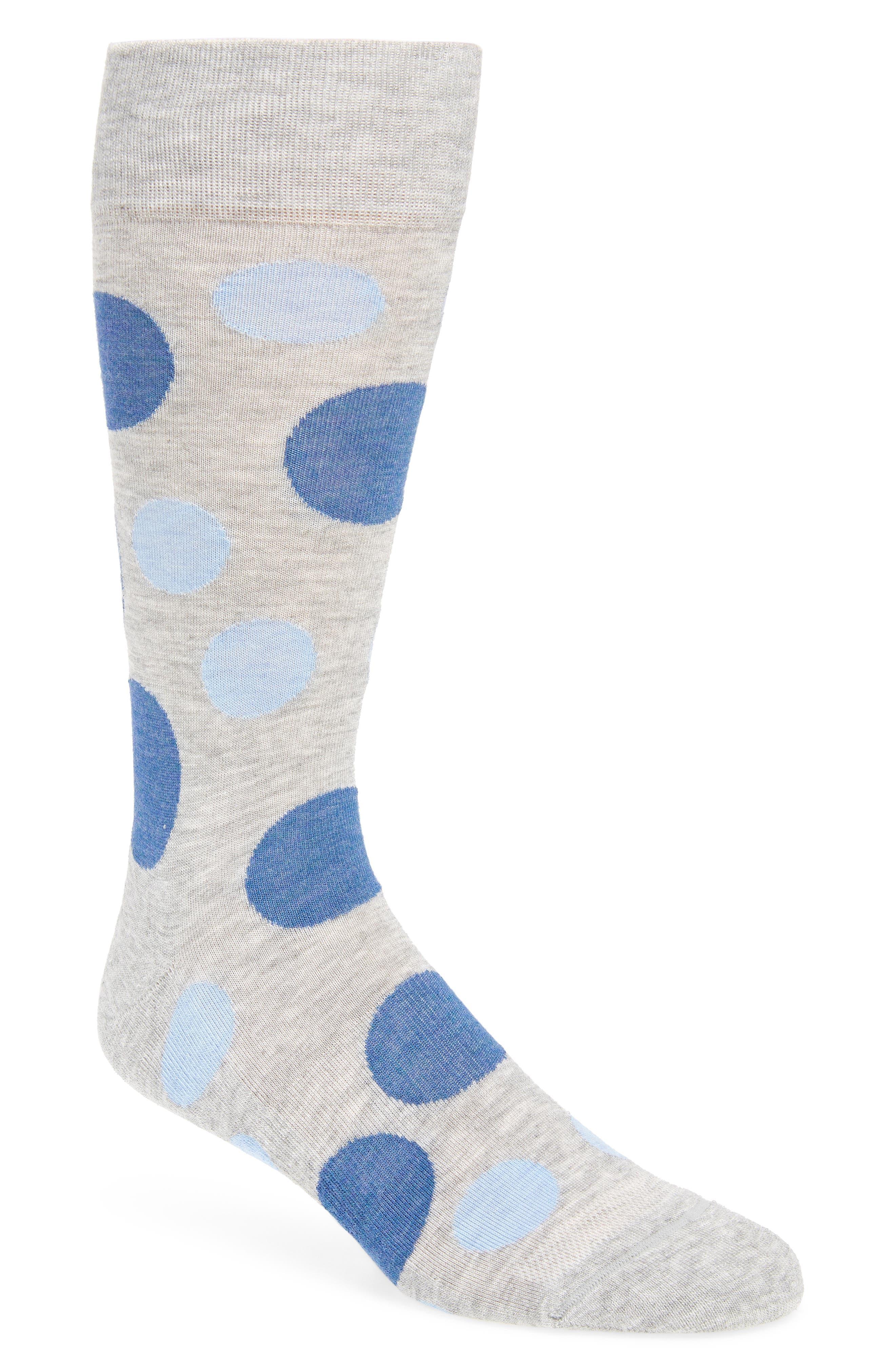 Dot Socks,                             Main thumbnail 1, color,                             Grey/ Blue