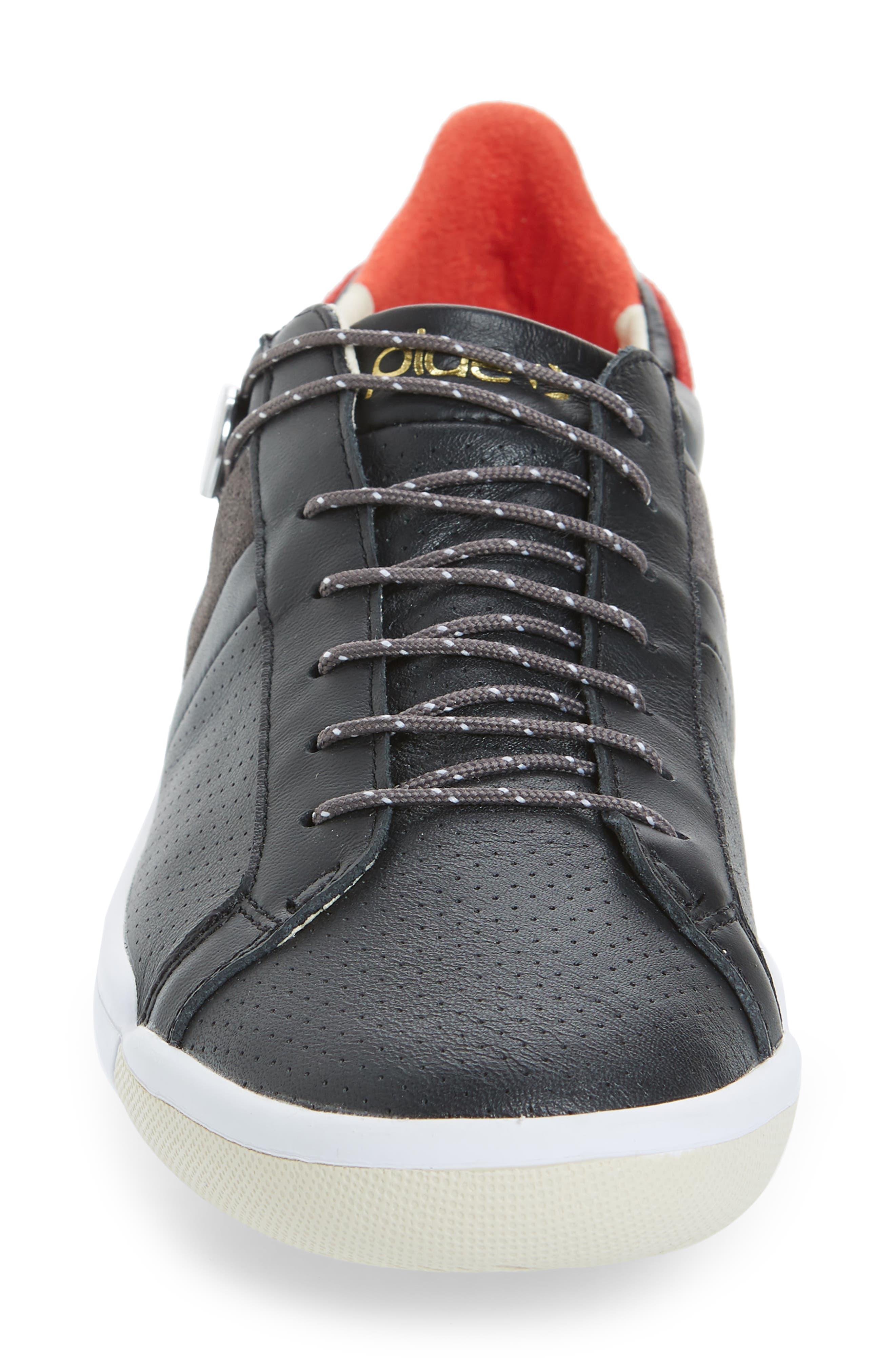 Mulberry Low Top Sneaker,                             Alternate thumbnail 4, color,                             Black