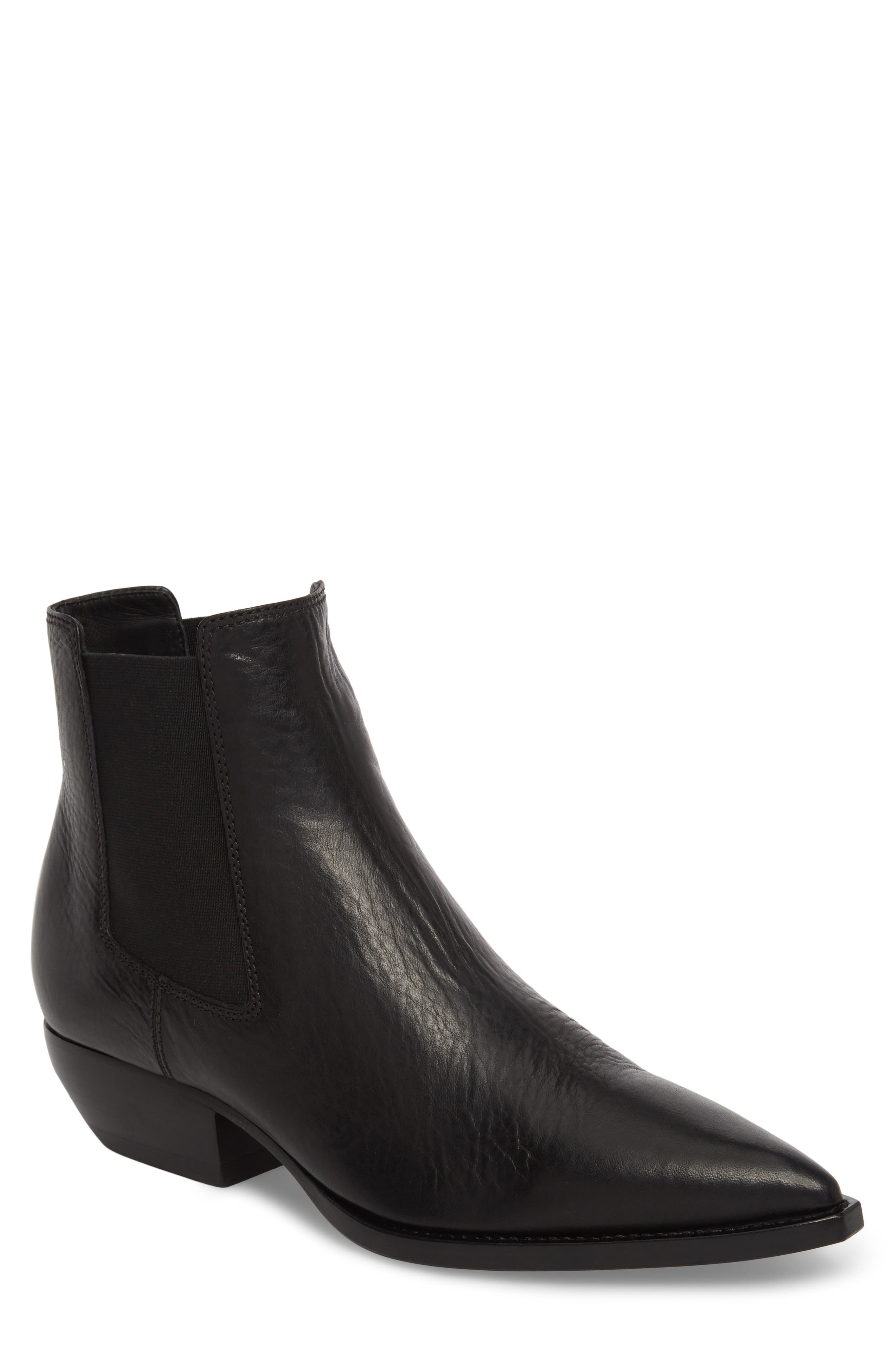 Theo 40 Chelsea Boot,                         Main,                         color, Black Leather