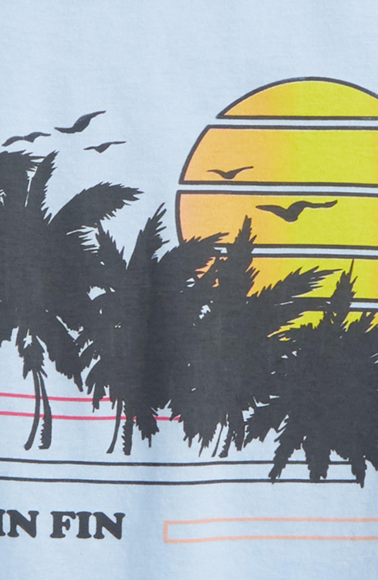 Seaside Graphic T-Shirt,                             Alternate thumbnail 2, color,                             Sky Blue