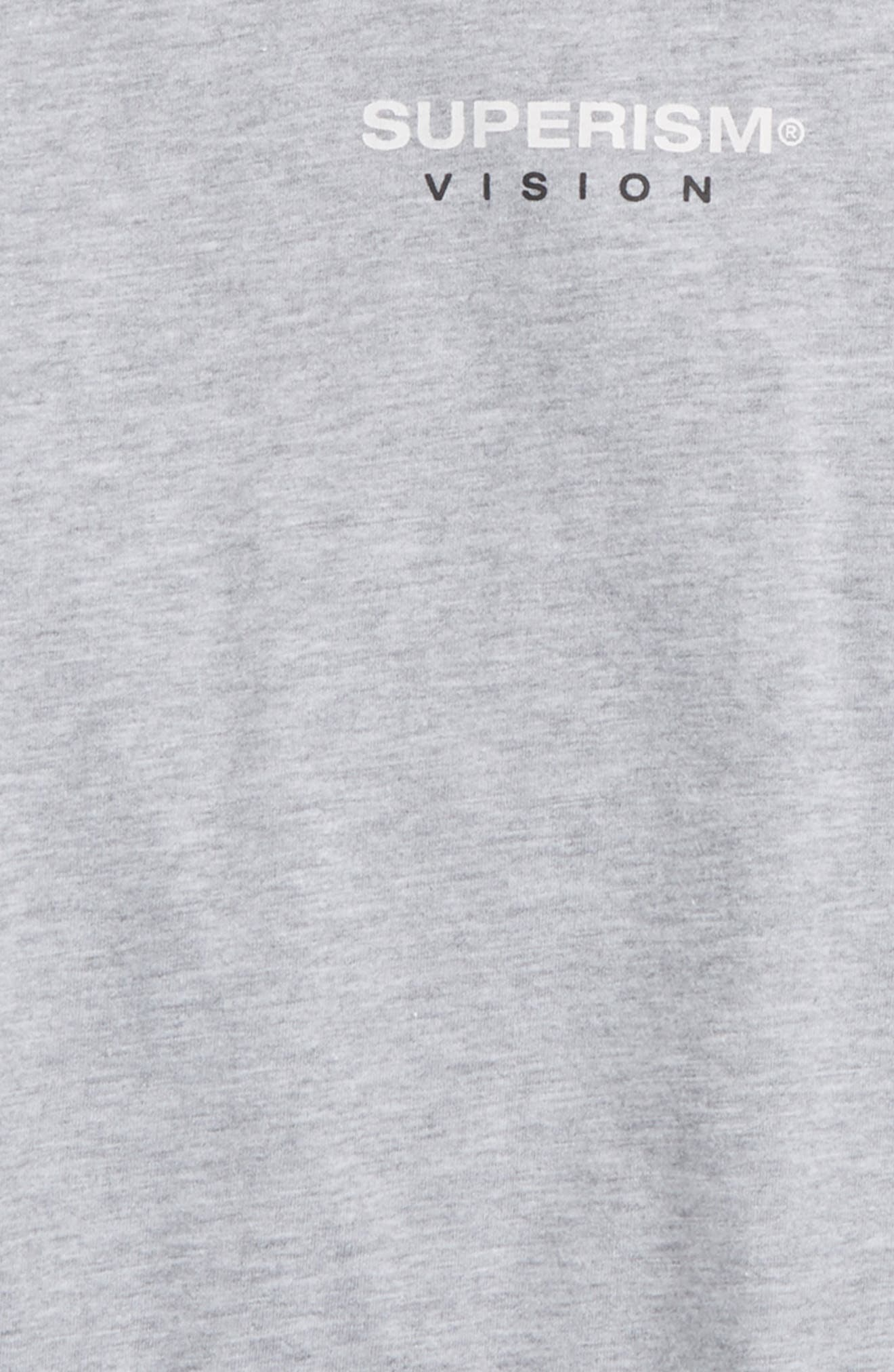 Rose Vision T-Shirt,                             Alternate thumbnail 3, color,                             Heather Grey
