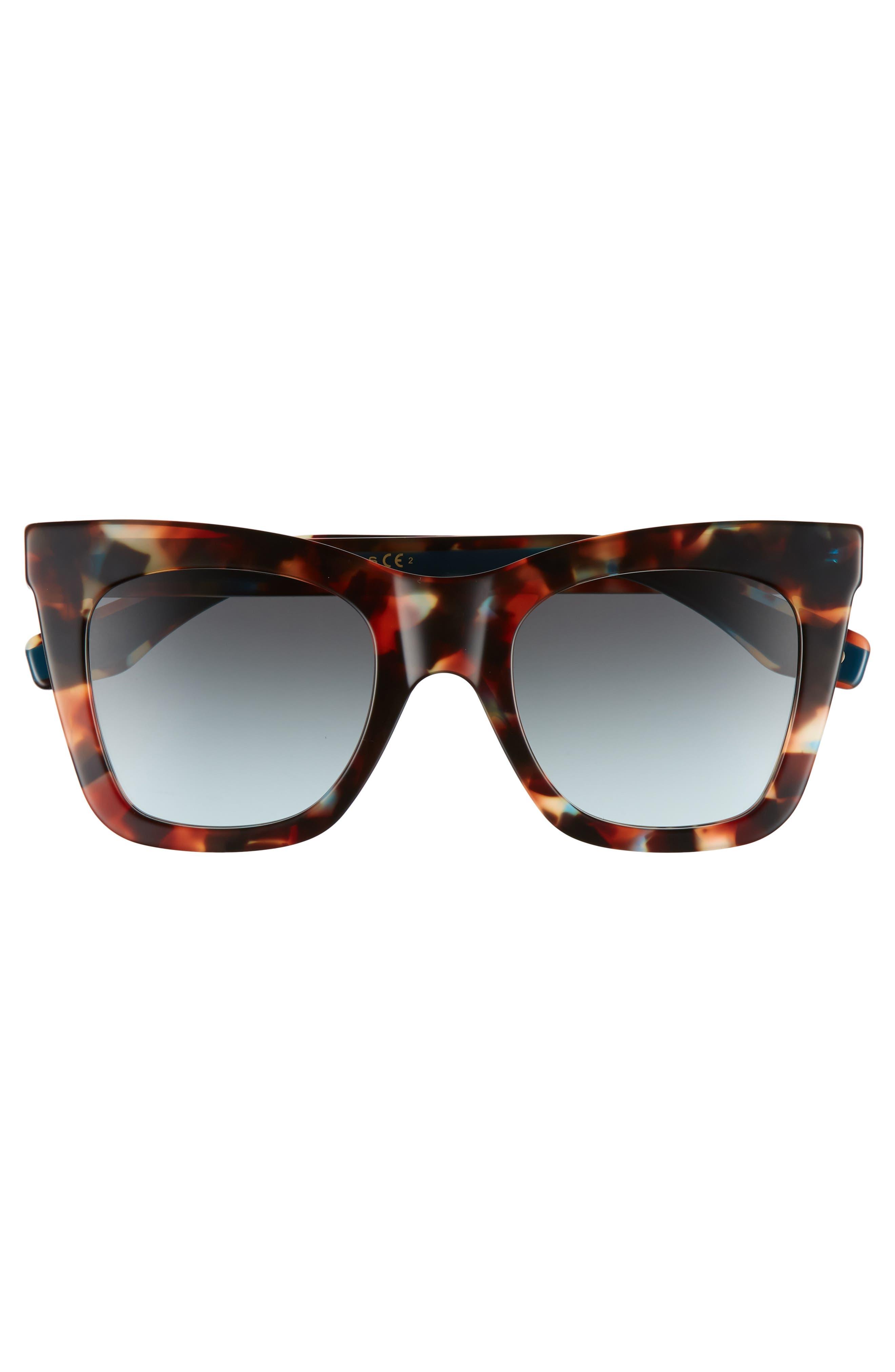 50mm Cat Eye Sunglasses,                             Alternate thumbnail 3, color,                             Havnturqu
