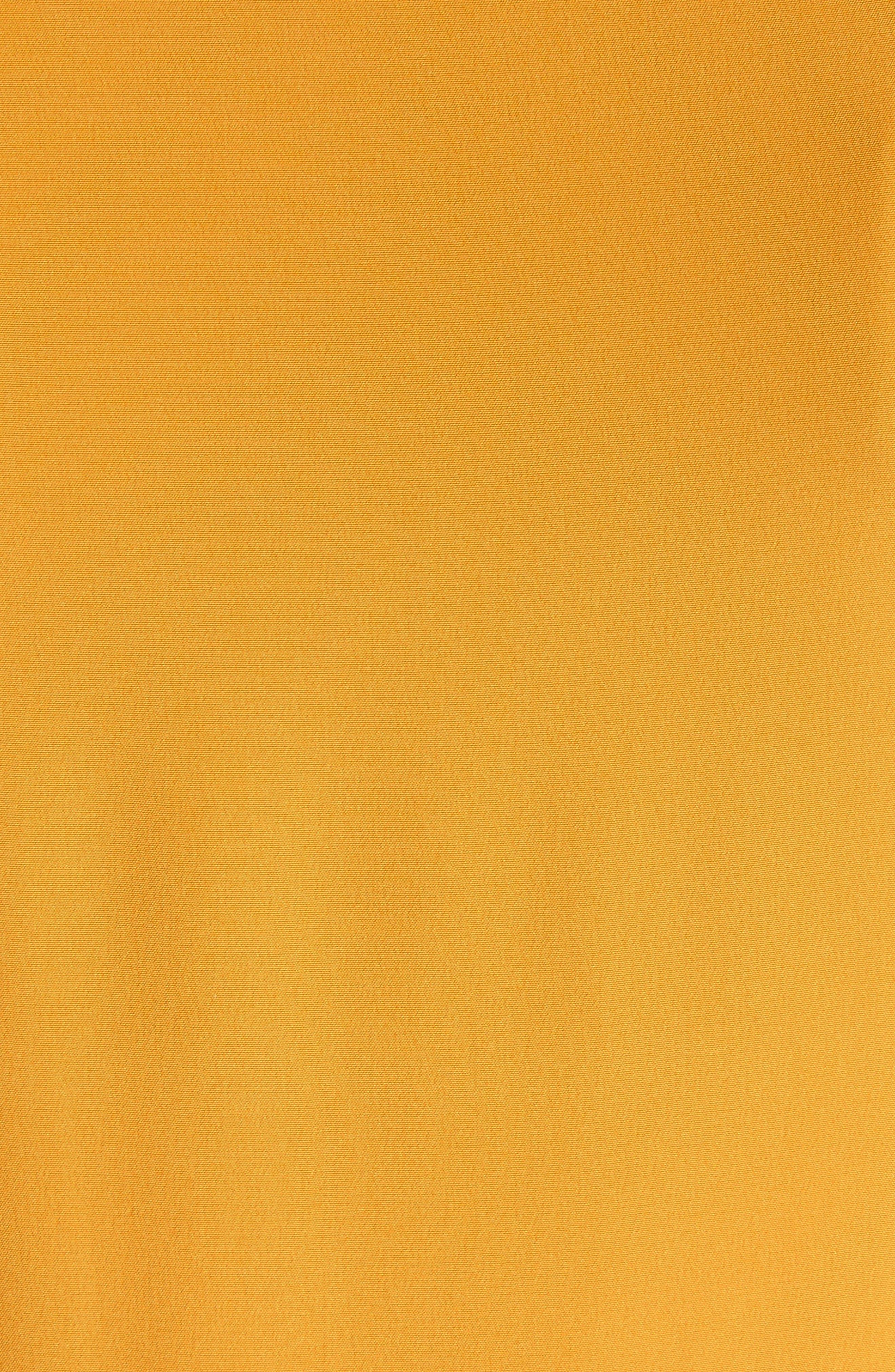 Hazel Silk Tank Dress,                             Alternate thumbnail 7, color,                             Saffron