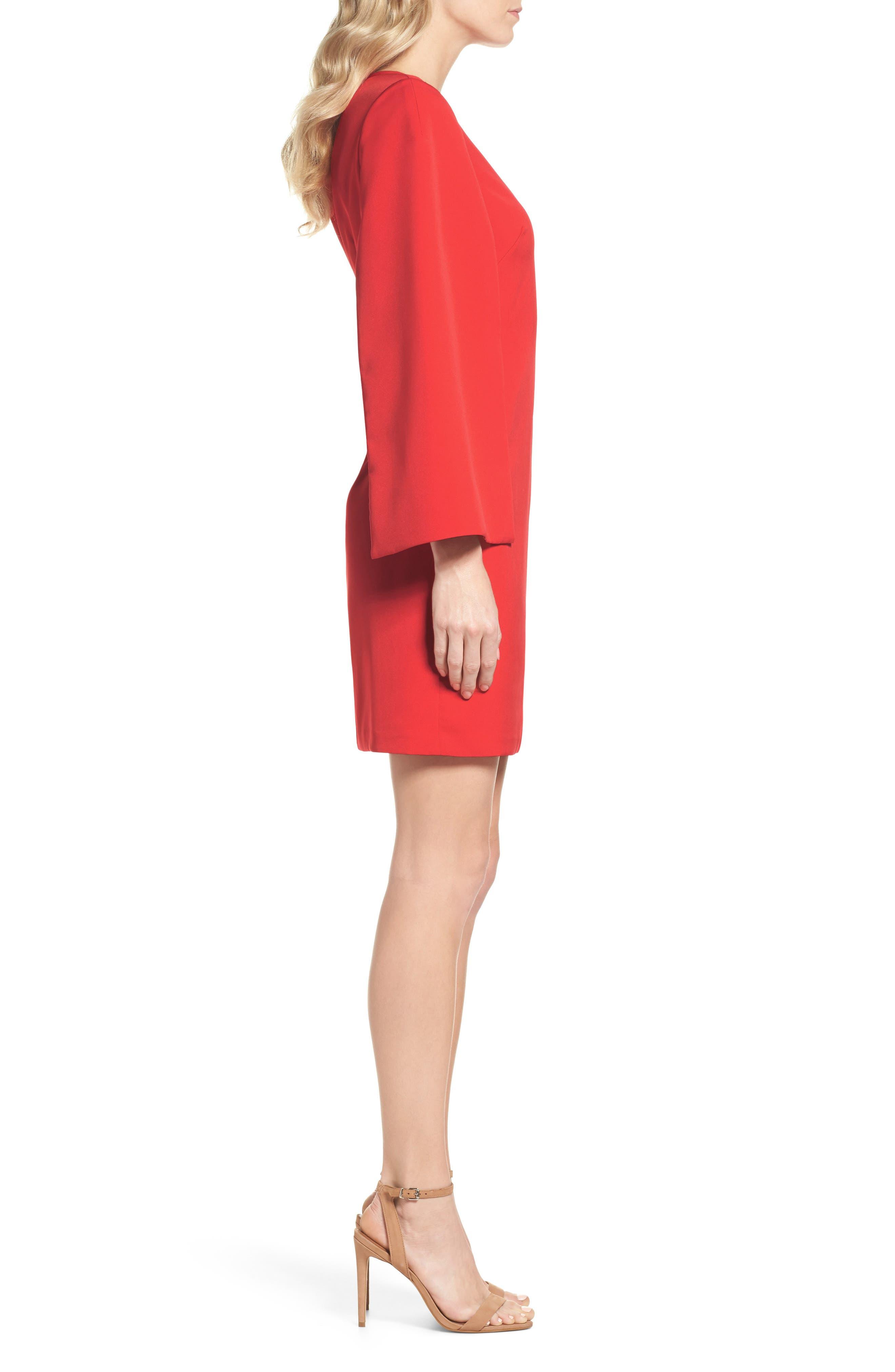 Alternate Image 3  - Eliza J Cape Sleeve Minidress
