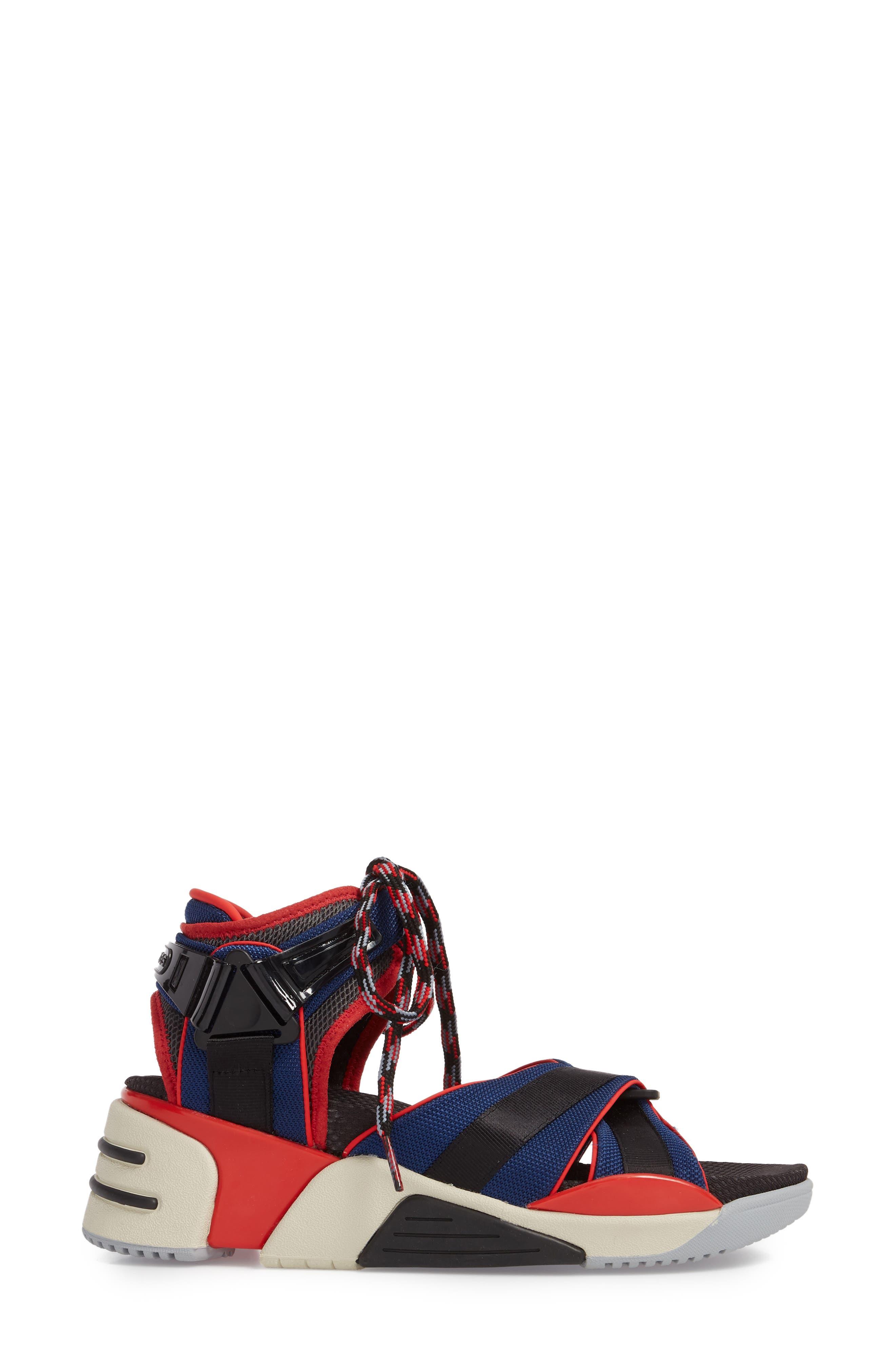 Somewhere Sport Sandal,                             Alternate thumbnail 3, color,                             Red Multi