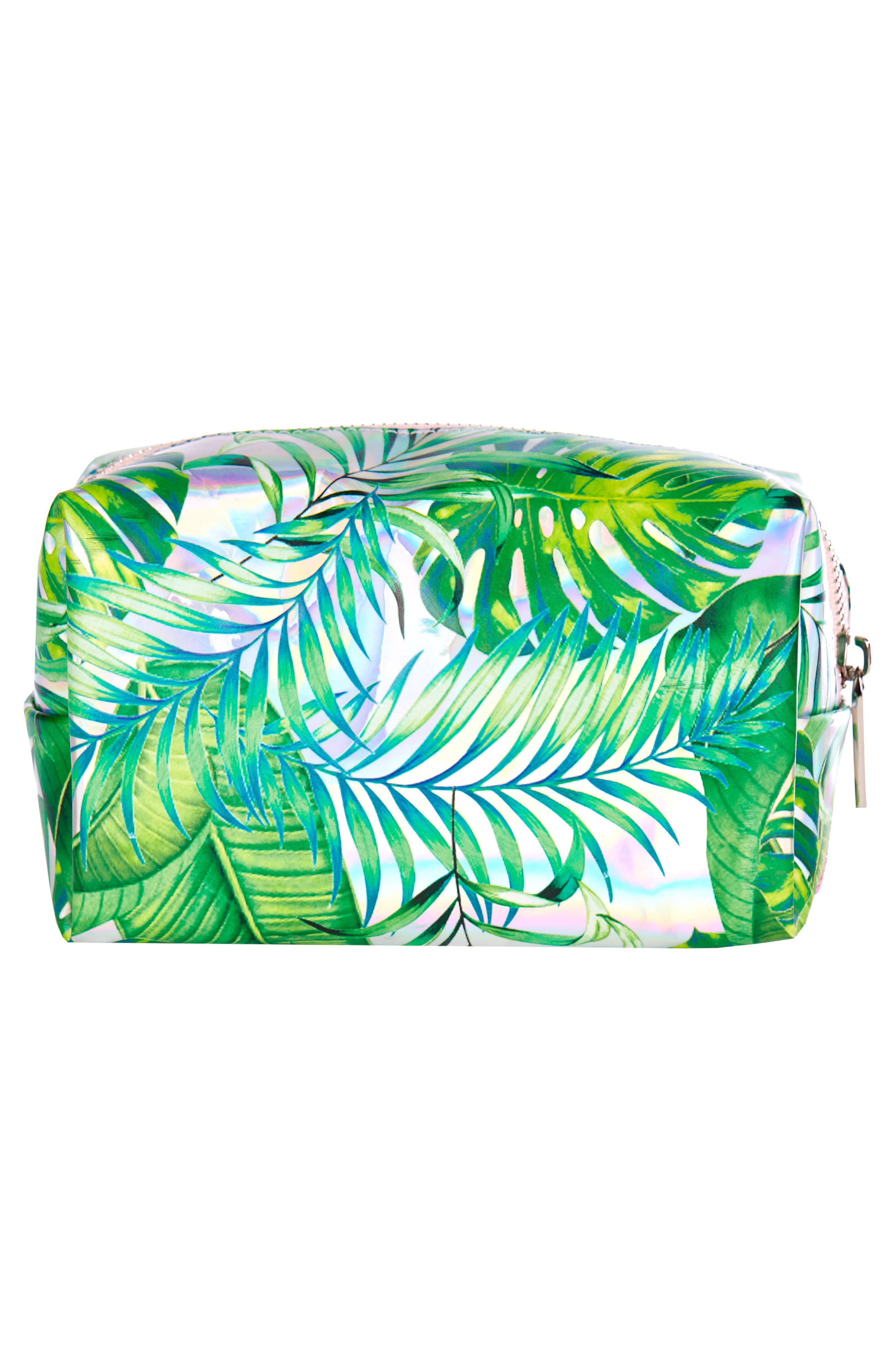 Skinny Dip Dominica Cosmetics Case,                             Alternate thumbnail 2, color,                             No Color