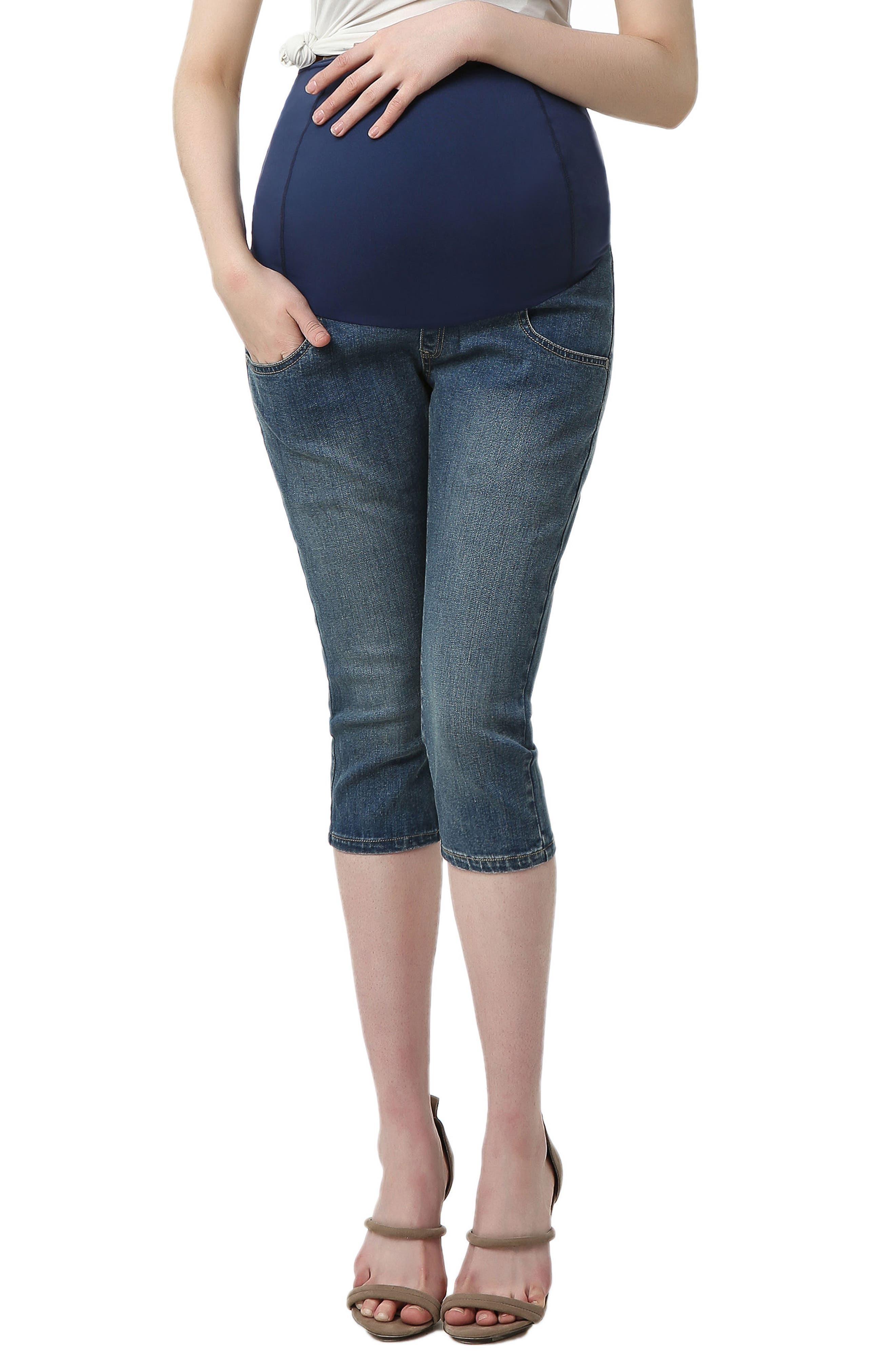 Courtney Capri Maternity Skinny Jeans,                         Main,                         color, Medium Indigo