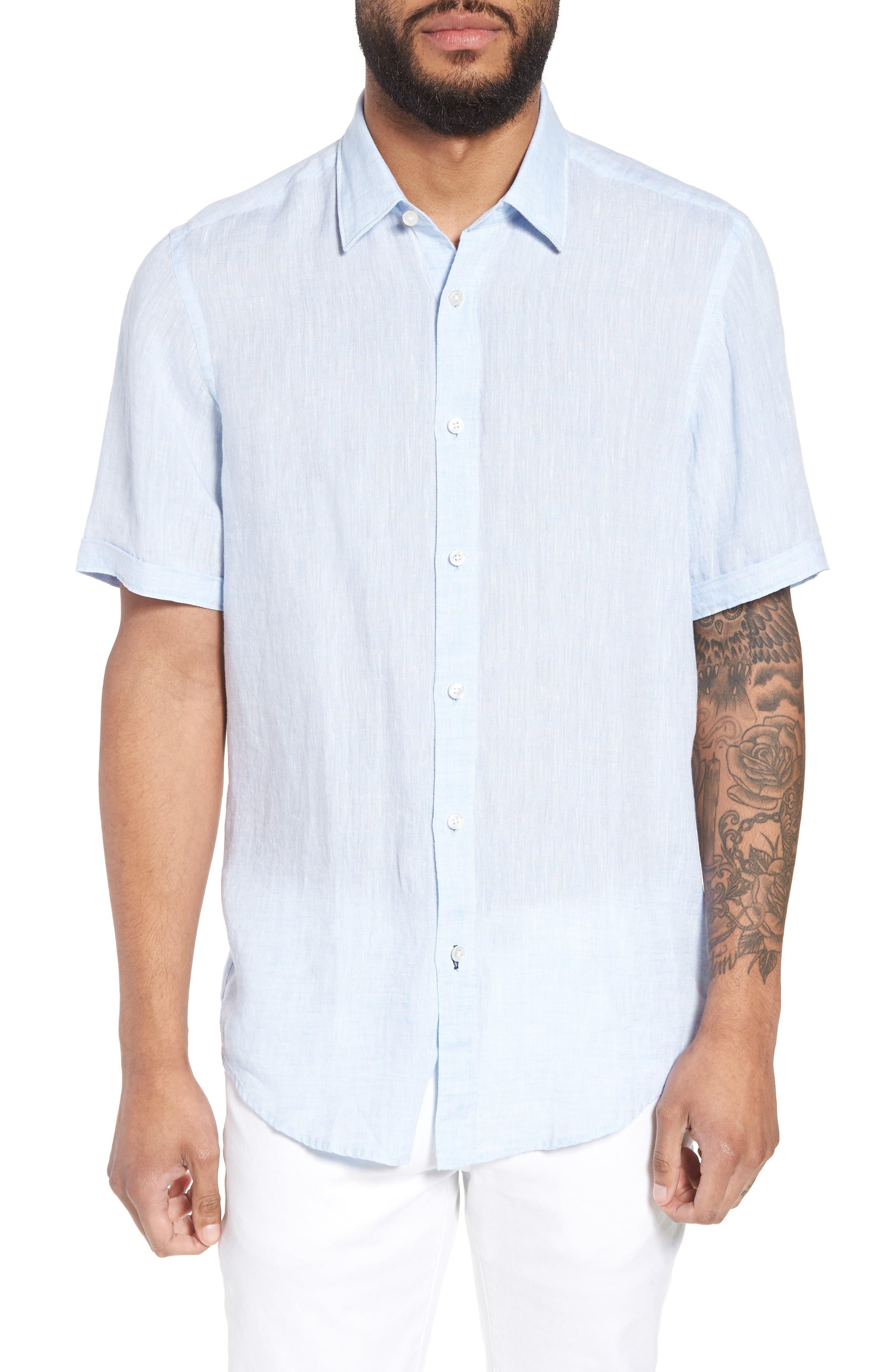 Luka Slim Fit Sport Shirt,                         Main,                         color, Blue