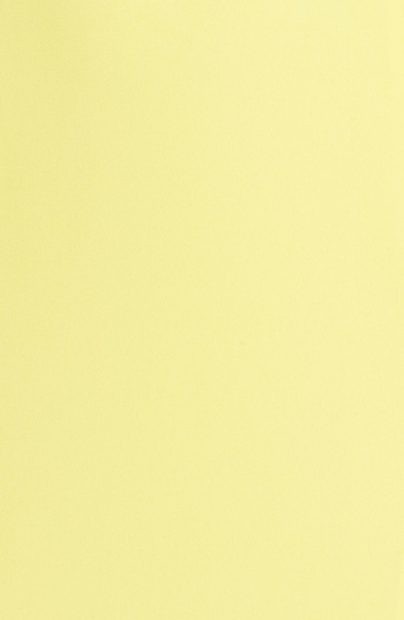 Lara Lace-Up Georgette Gown,                             Alternate thumbnail 5, color,                             Lemon
