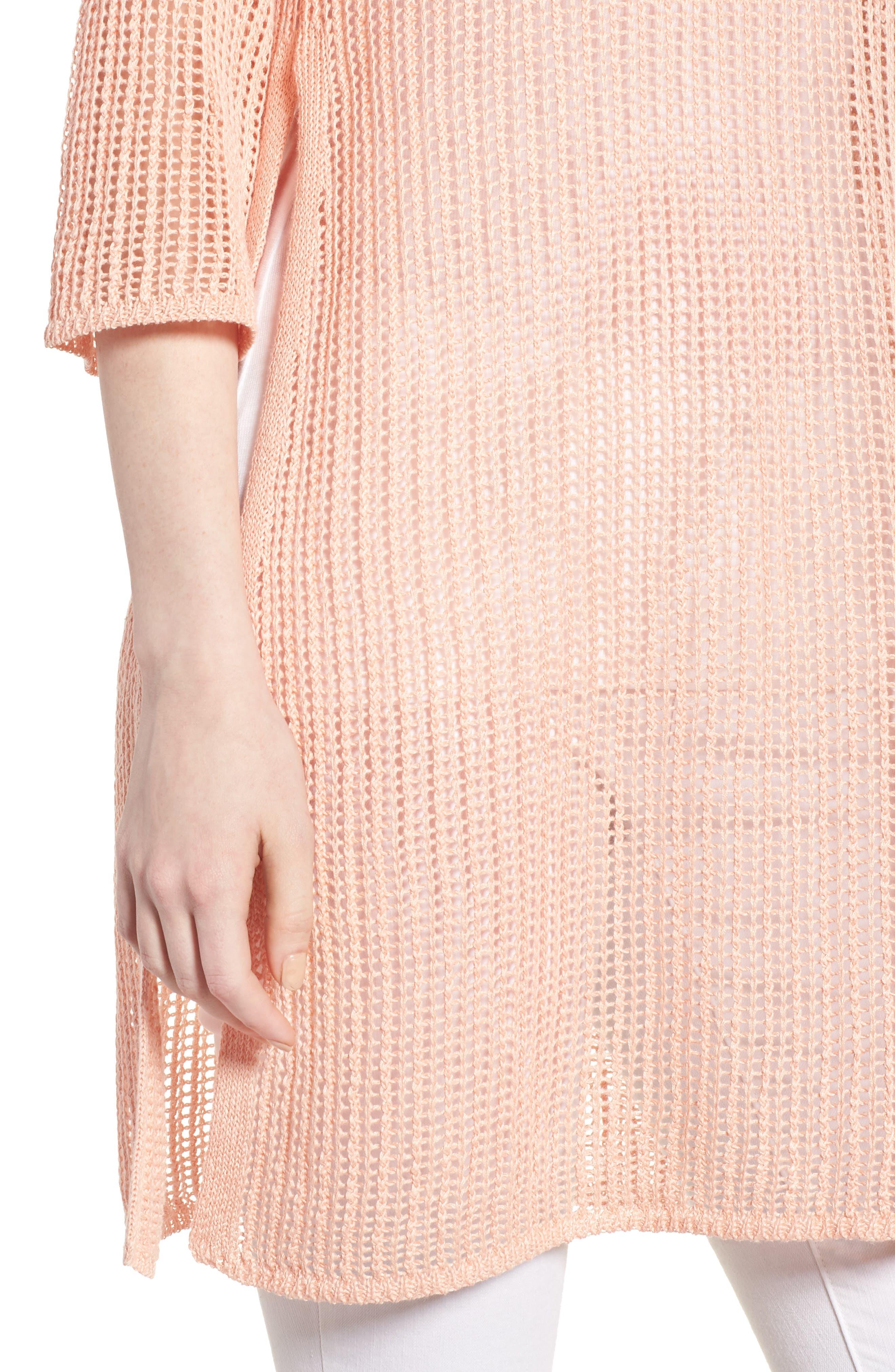Organic Linen Tunic,                             Alternate thumbnail 4, color,                             Petal