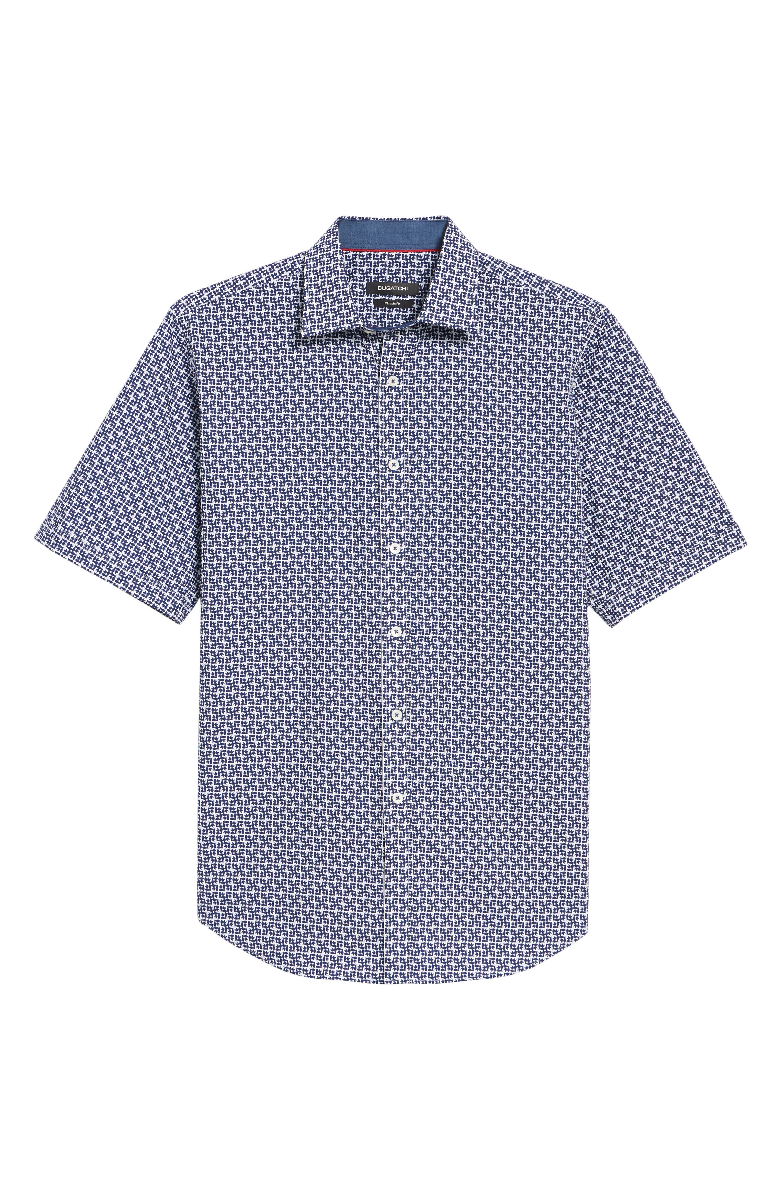 Classic Fit Woven Sport Shirt,                             Alternate thumbnail 6, color,                             Navy