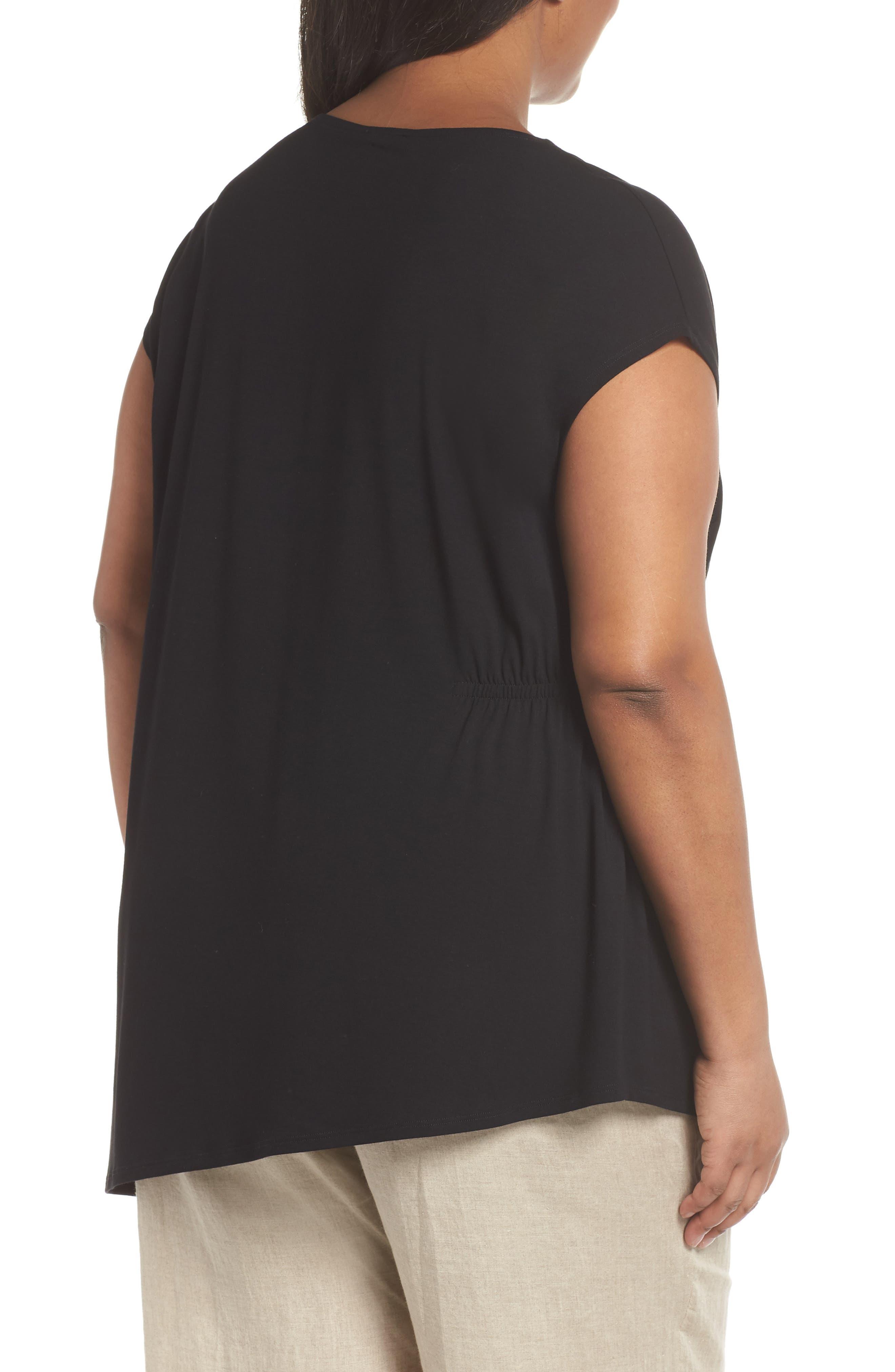 Alternate Image 2  - Eileen Fisher Asymmetrical Jersey Top (Plus Size)