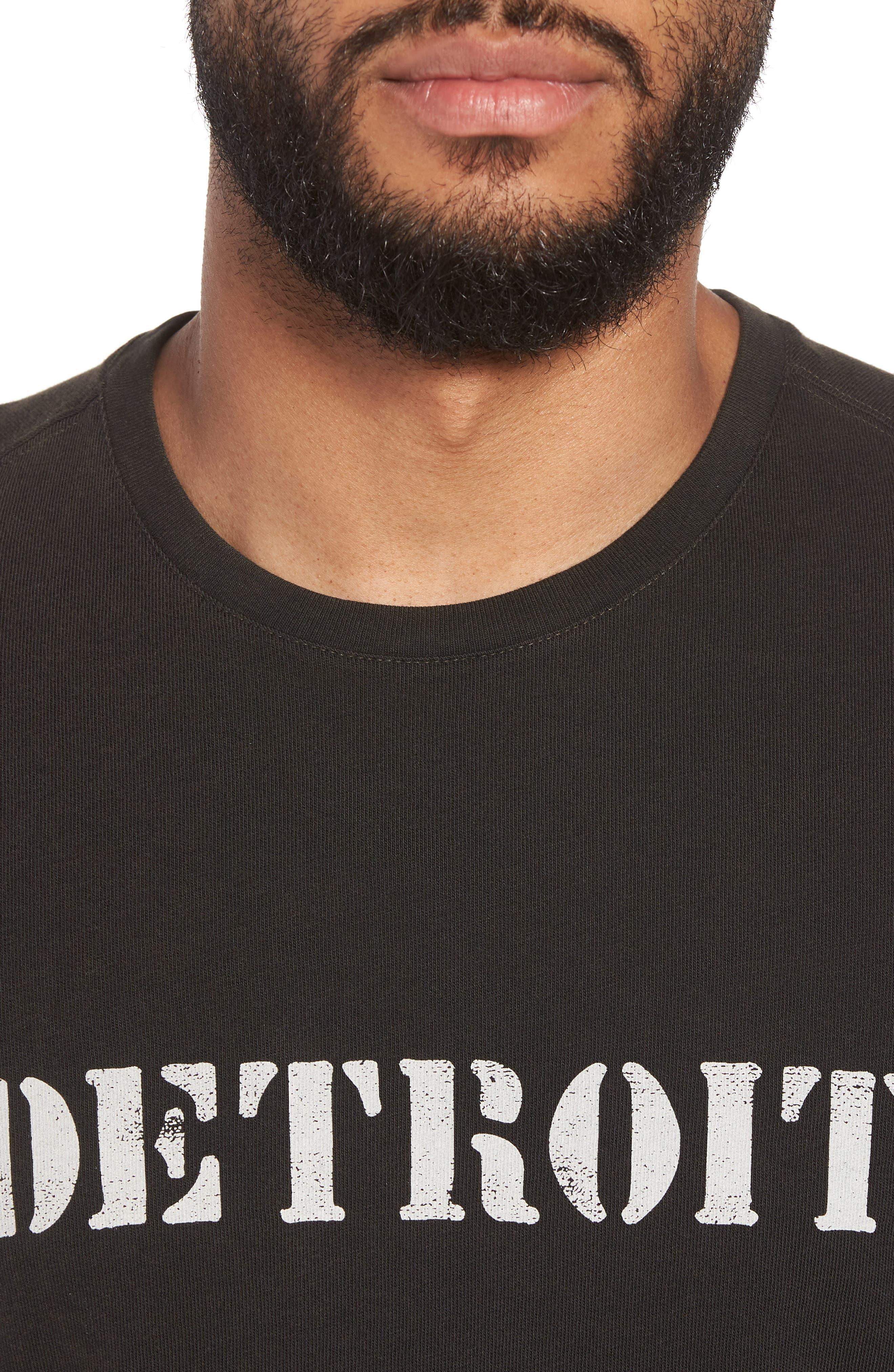 John Varvatos x Nick Jonas Rock City Graphic T-Shirt,                             Alternate thumbnail 5, color,                             Black