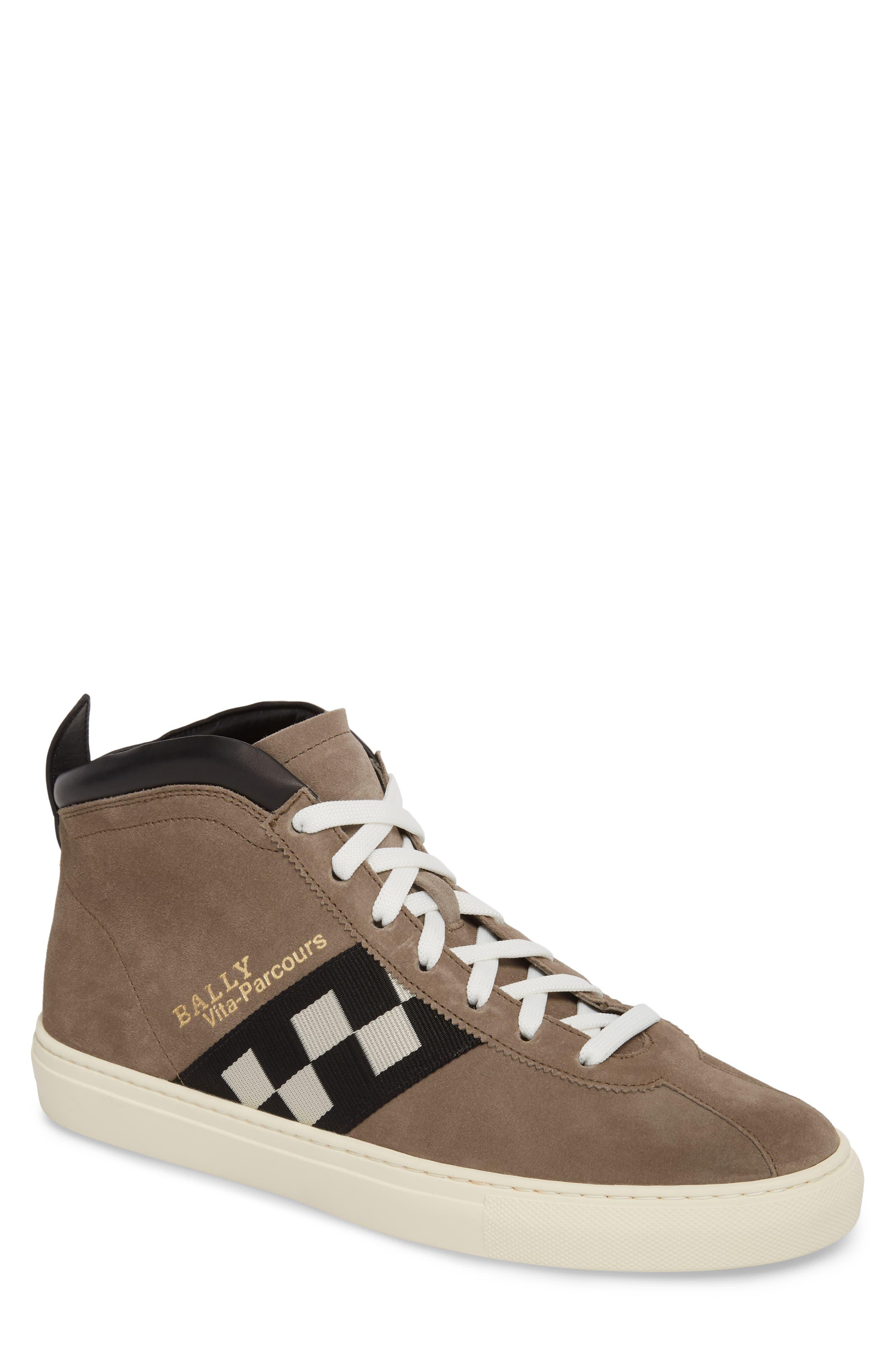 Vita Checkered High Top Sneaker,                             Main thumbnail 1, color,                             Snuff