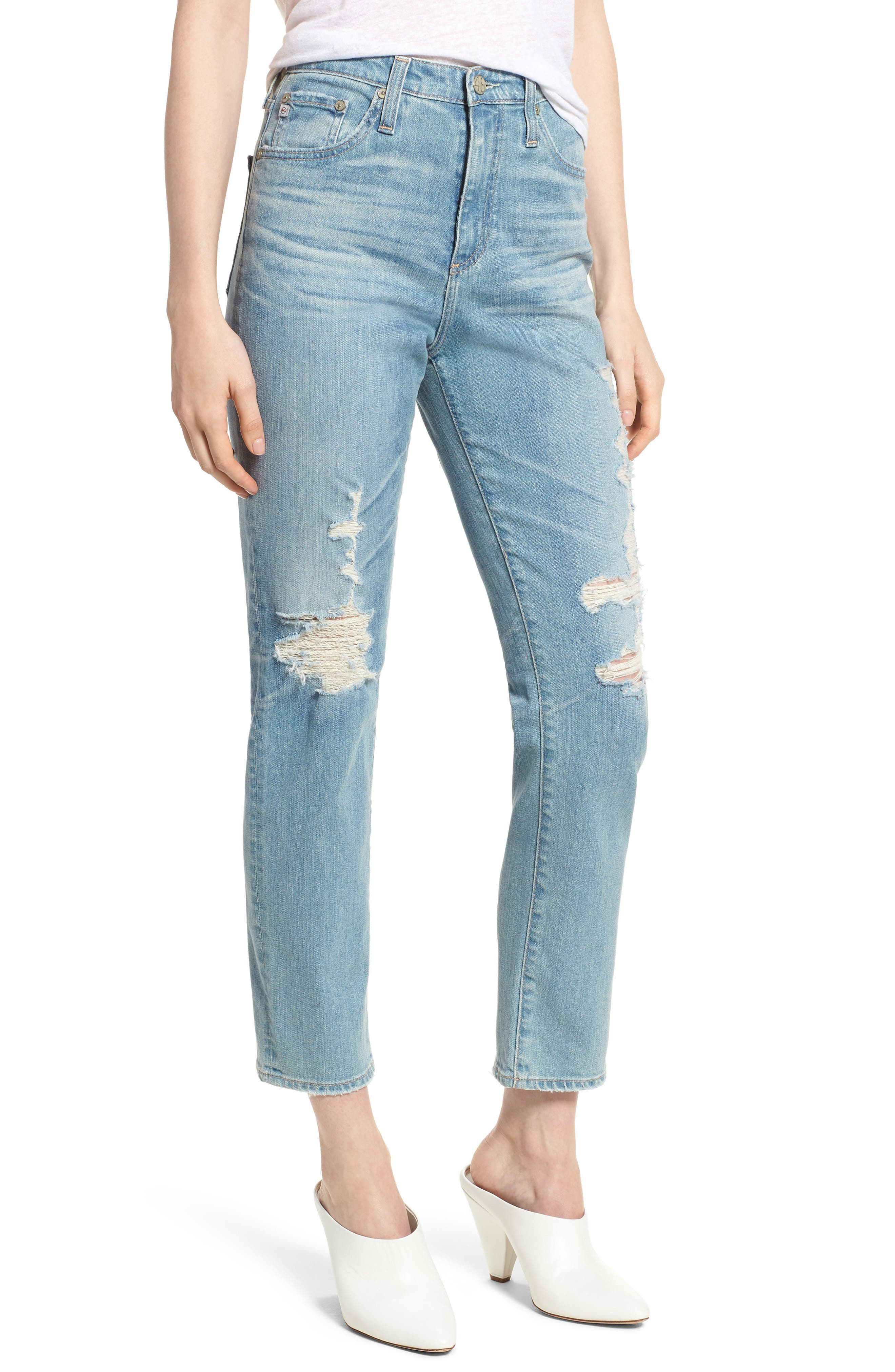 'The Phoebe' Vintage High Rise Straight Leg Jeans,                         Main,                         color, 18 Years Headlands
