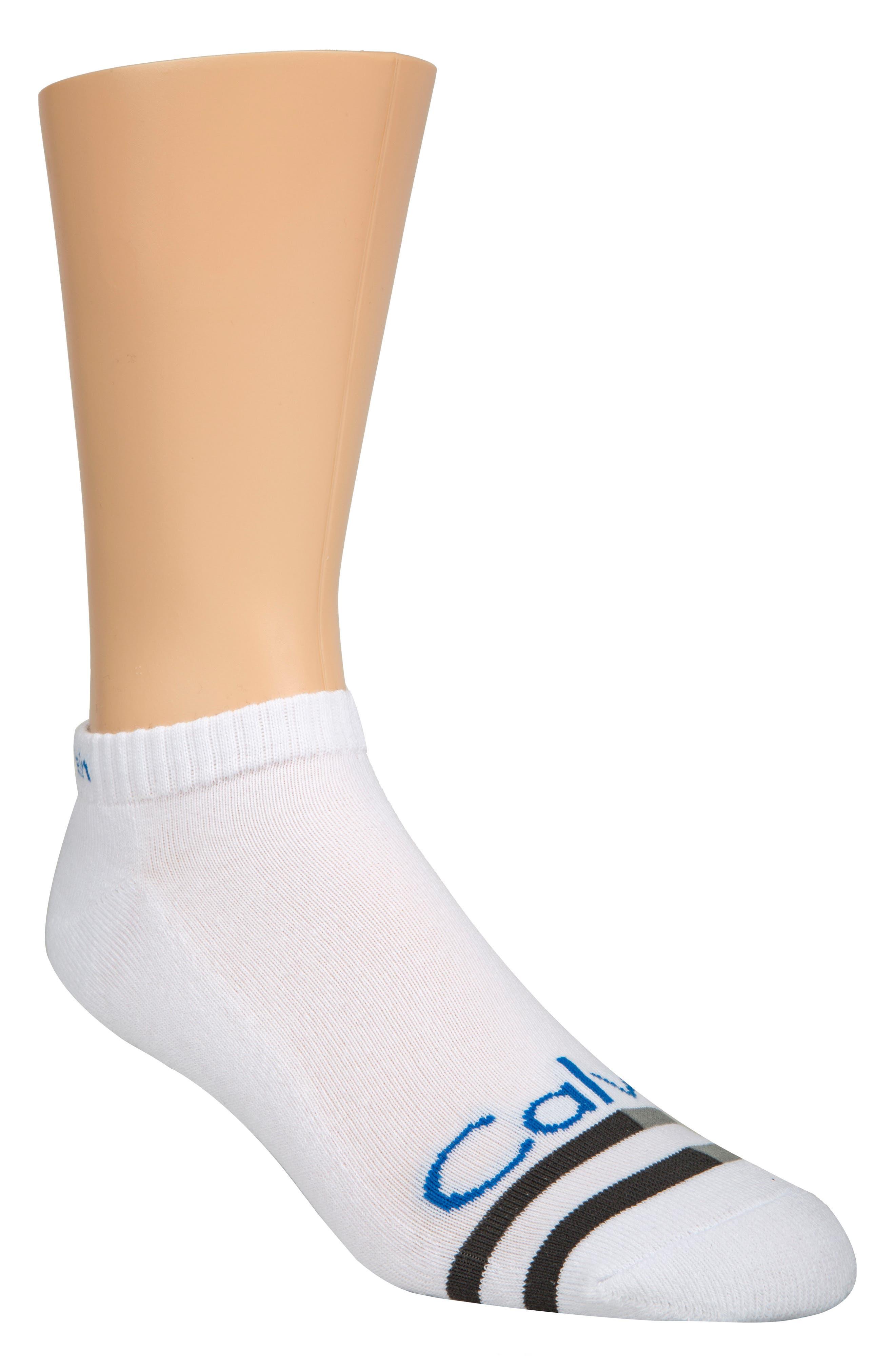 Logo Liner Socks,                             Main thumbnail 1, color,                             White