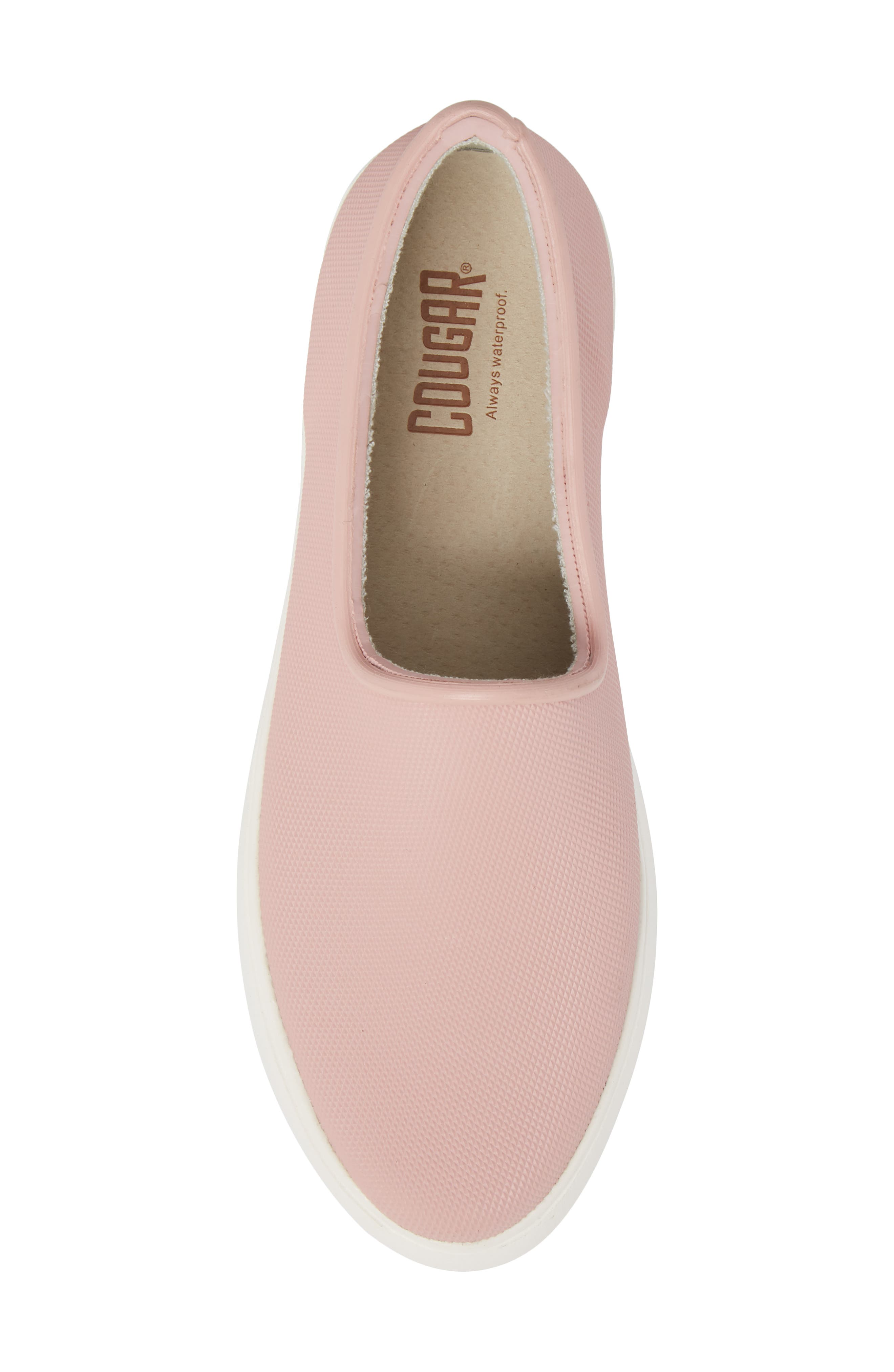 Rainy Day Waterproof Slip-On Sneaker,                             Alternate thumbnail 5, color,                             Dusty Pink
