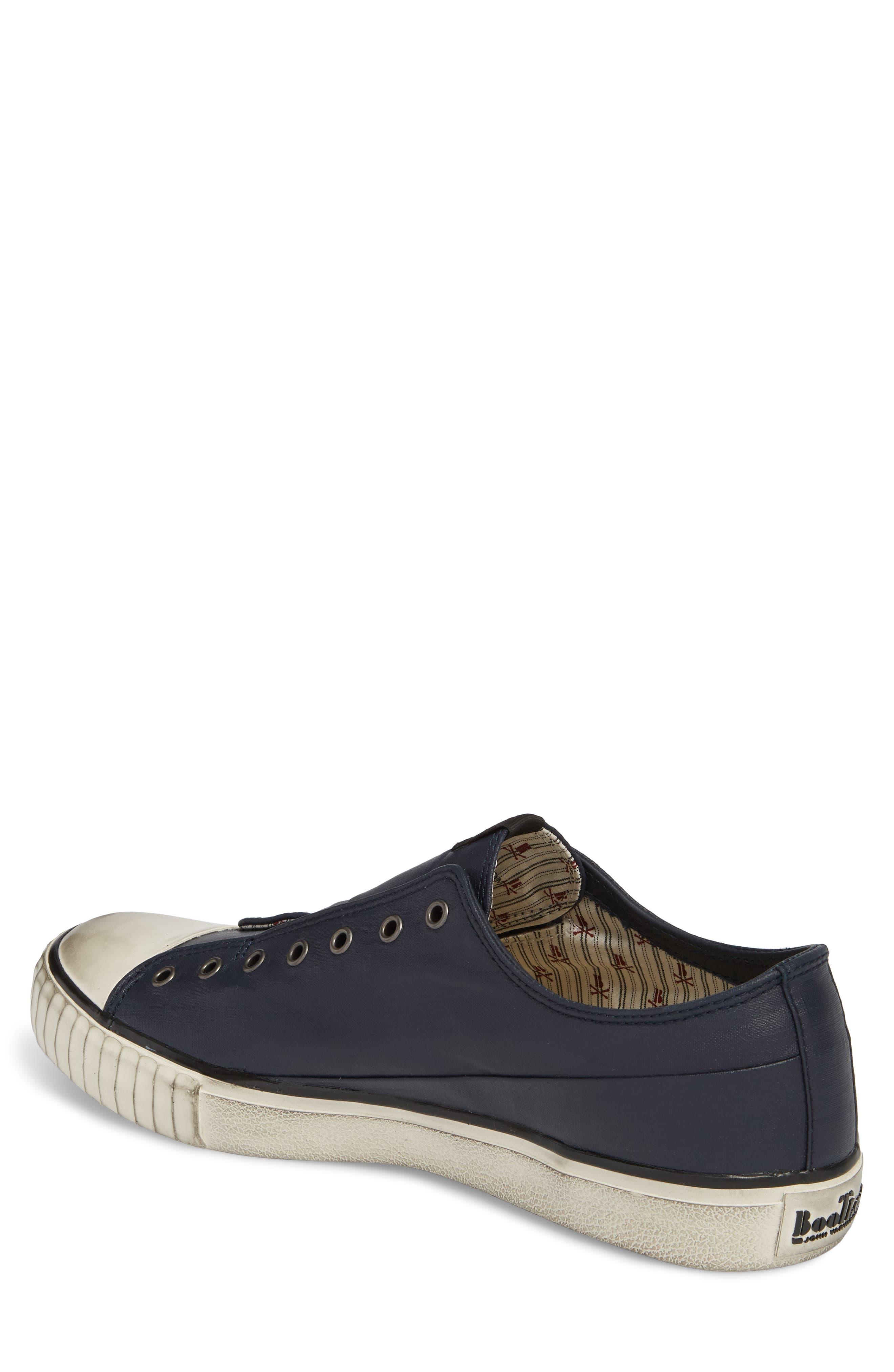 John Varvatos Star USA Bootleg Linen Laceless Sneaker,                             Alternate thumbnail 2, color,                             Midnight Linen