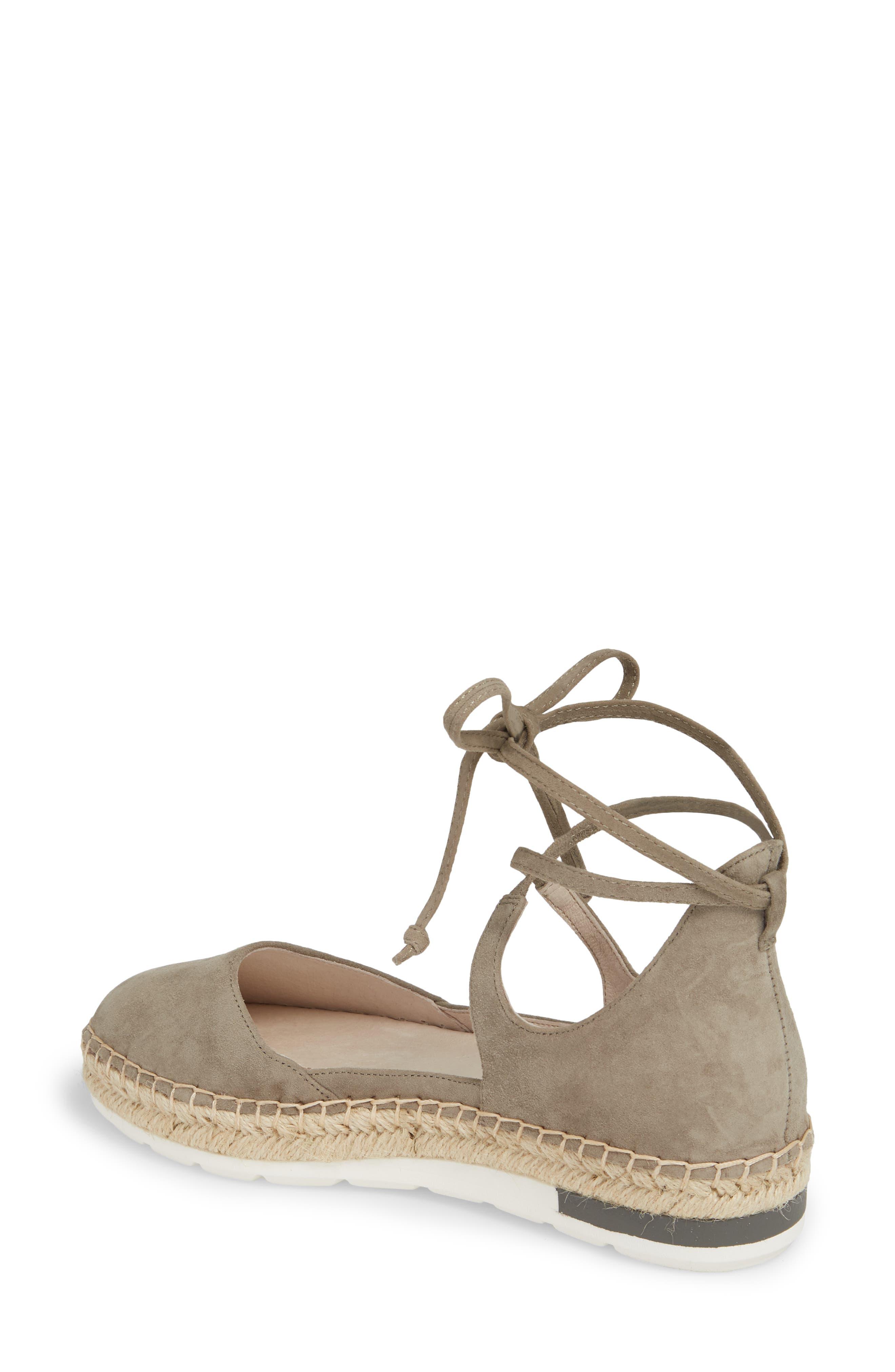 Leena Ankle Strap Sandal,                             Alternate thumbnail 2, color,                             Grey Suede