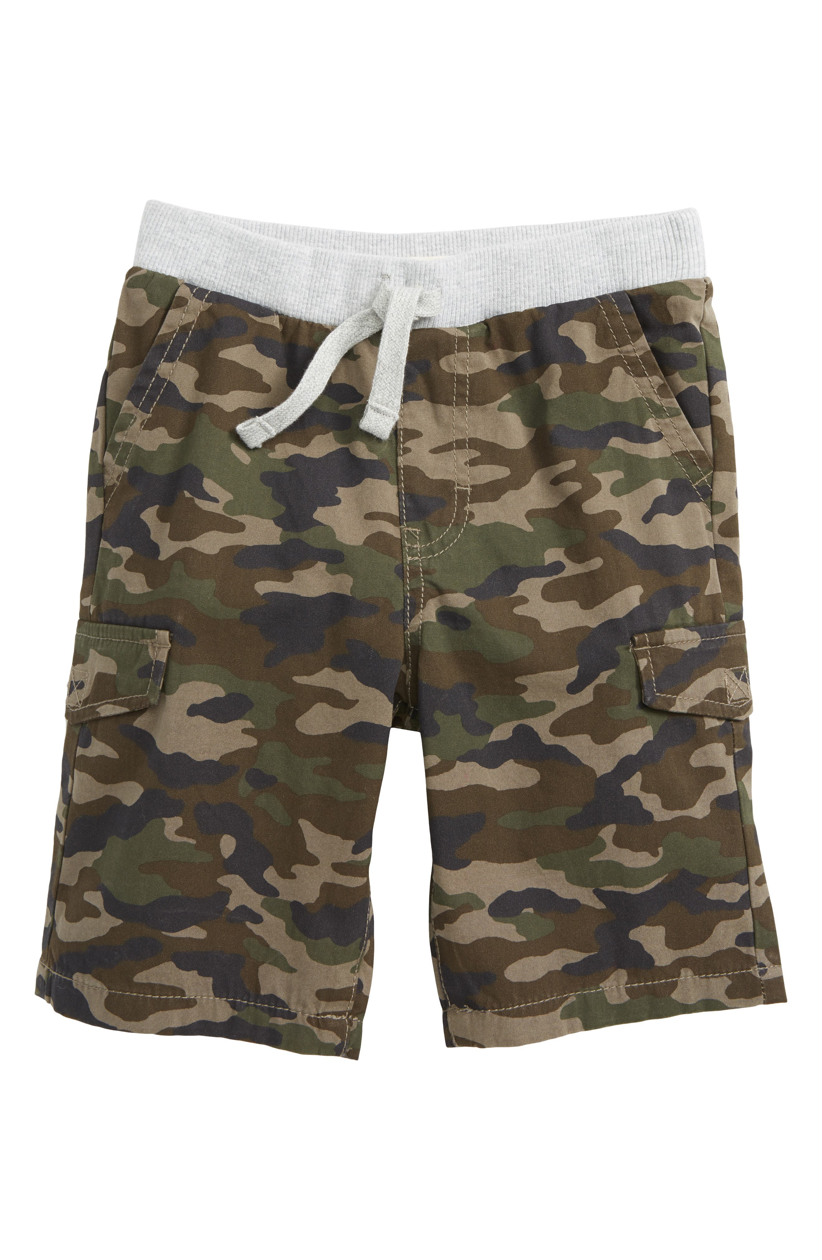Camo Utility Shorts,                         Main,                         color, Olive Brown Camo