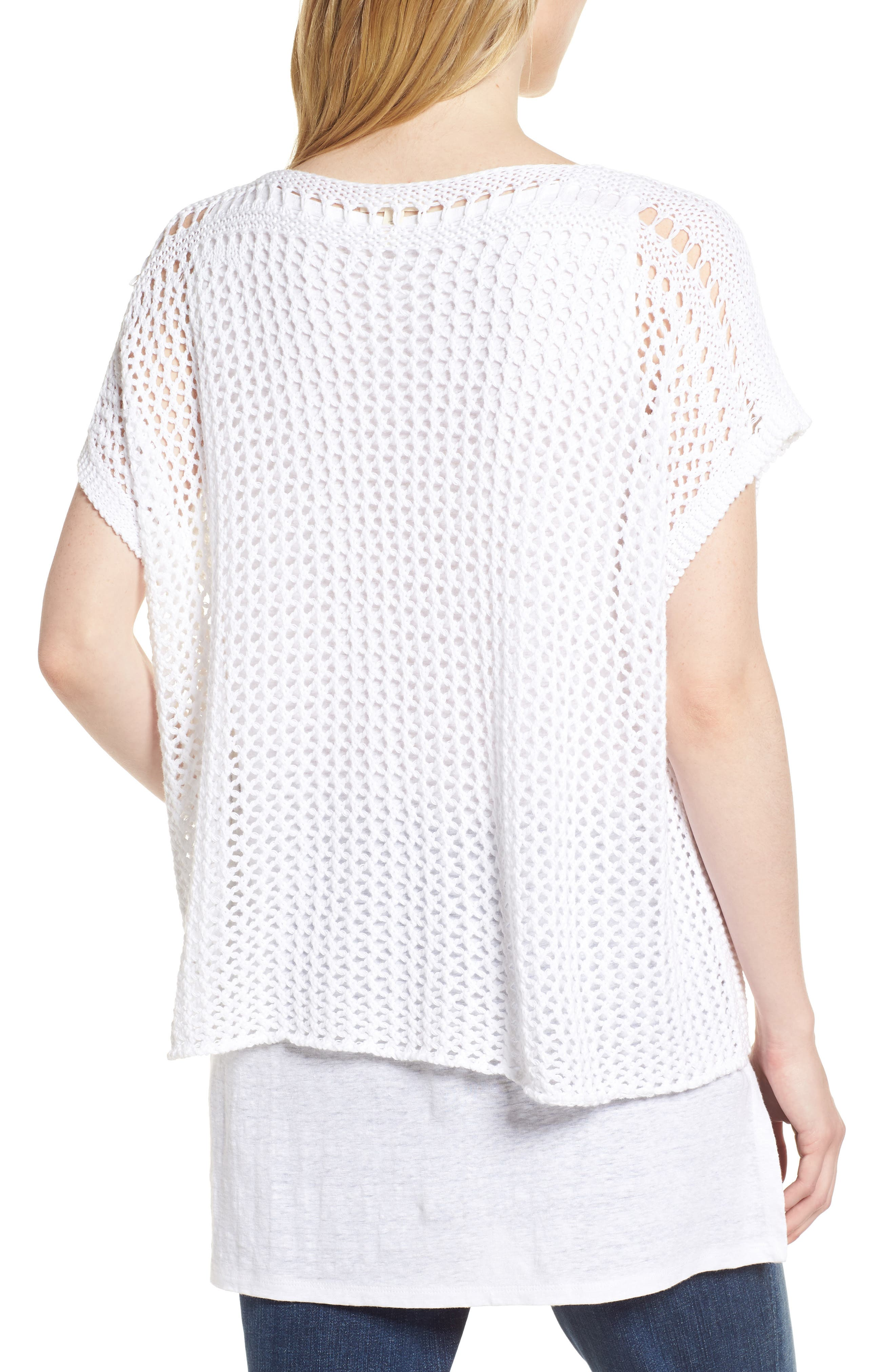 Organic Cotton Sweater,                             Alternate thumbnail 2, color,                             White