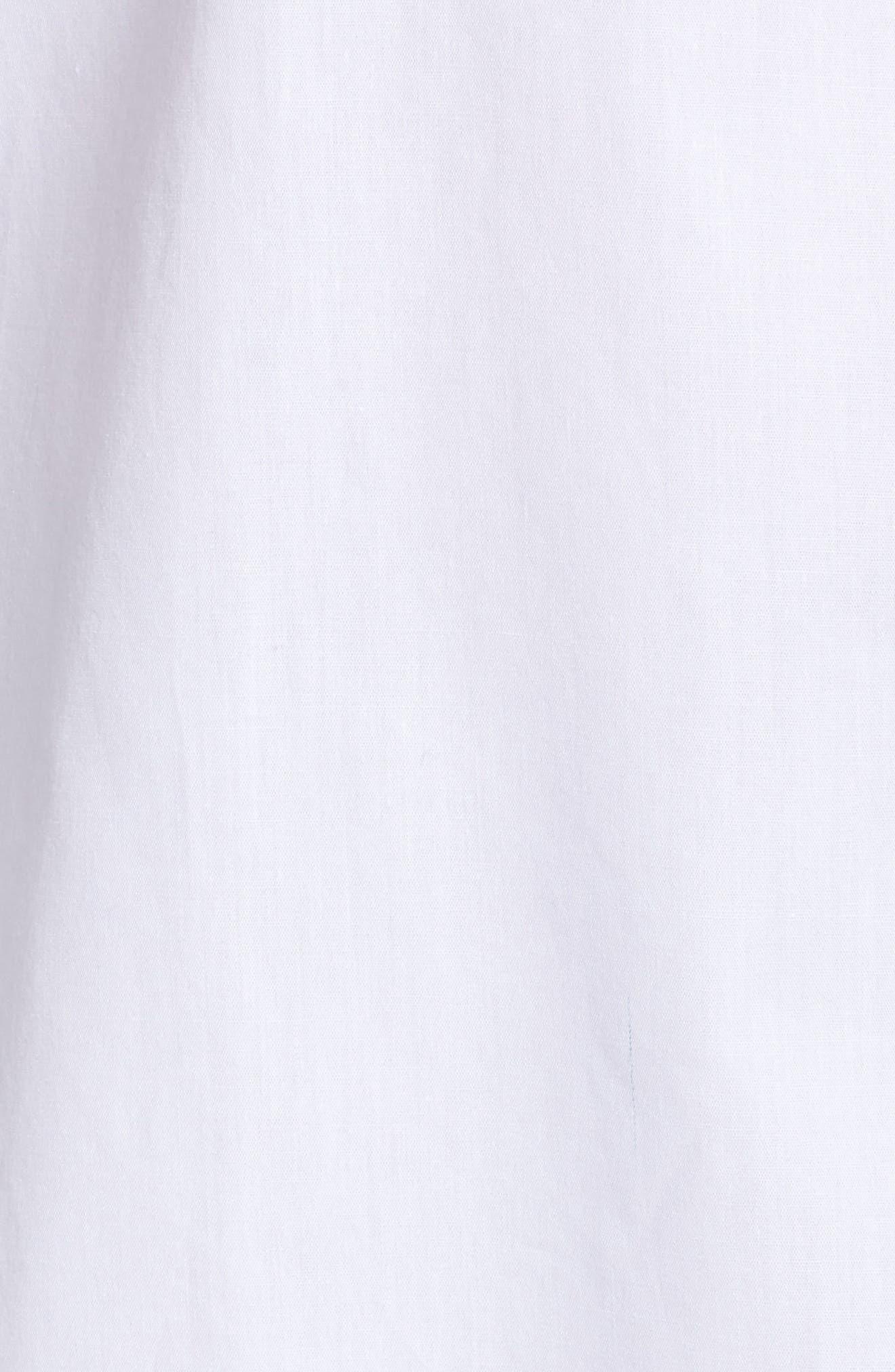 Button Front Shirt,                             Alternate thumbnail 6, color,                             White