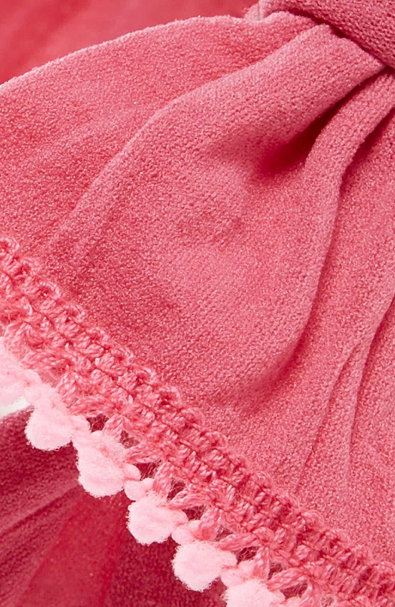 Mini Pompom Headband,                             Alternate thumbnail 2, color,                             Hot Pink/ Pink