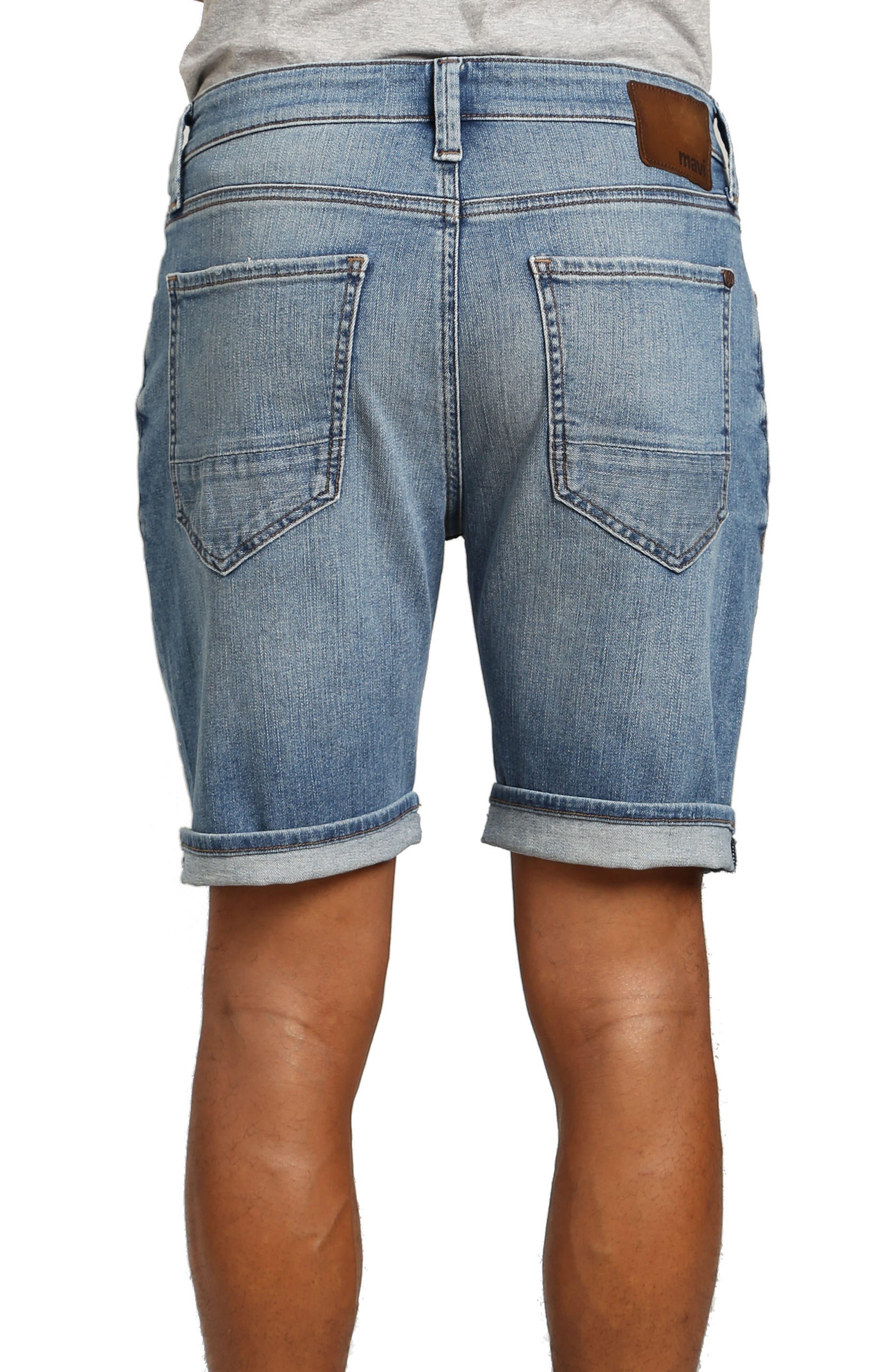 Brian Denim Cutoff Shorts,                             Alternate thumbnail 2, color,                             Mid Used Comfort
