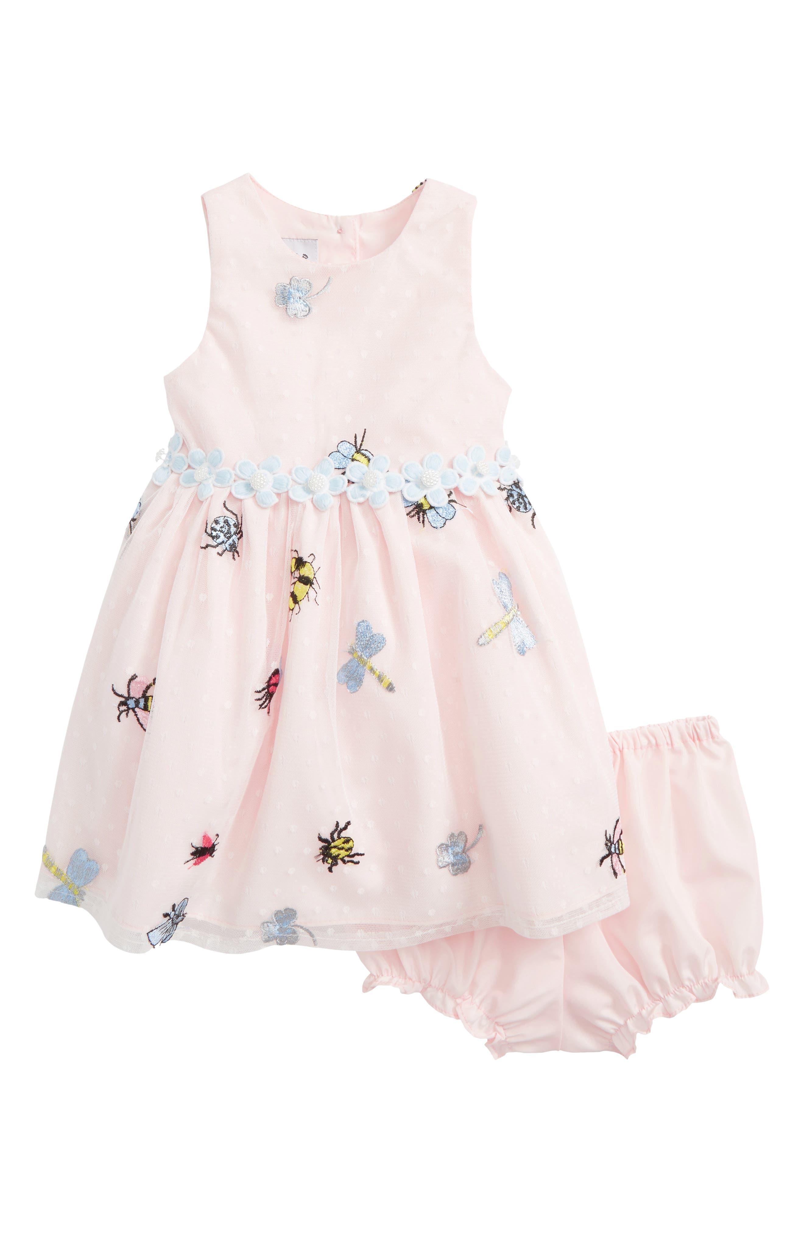 Pippa & Julie Mesh Bug Dress (Baby Girls)