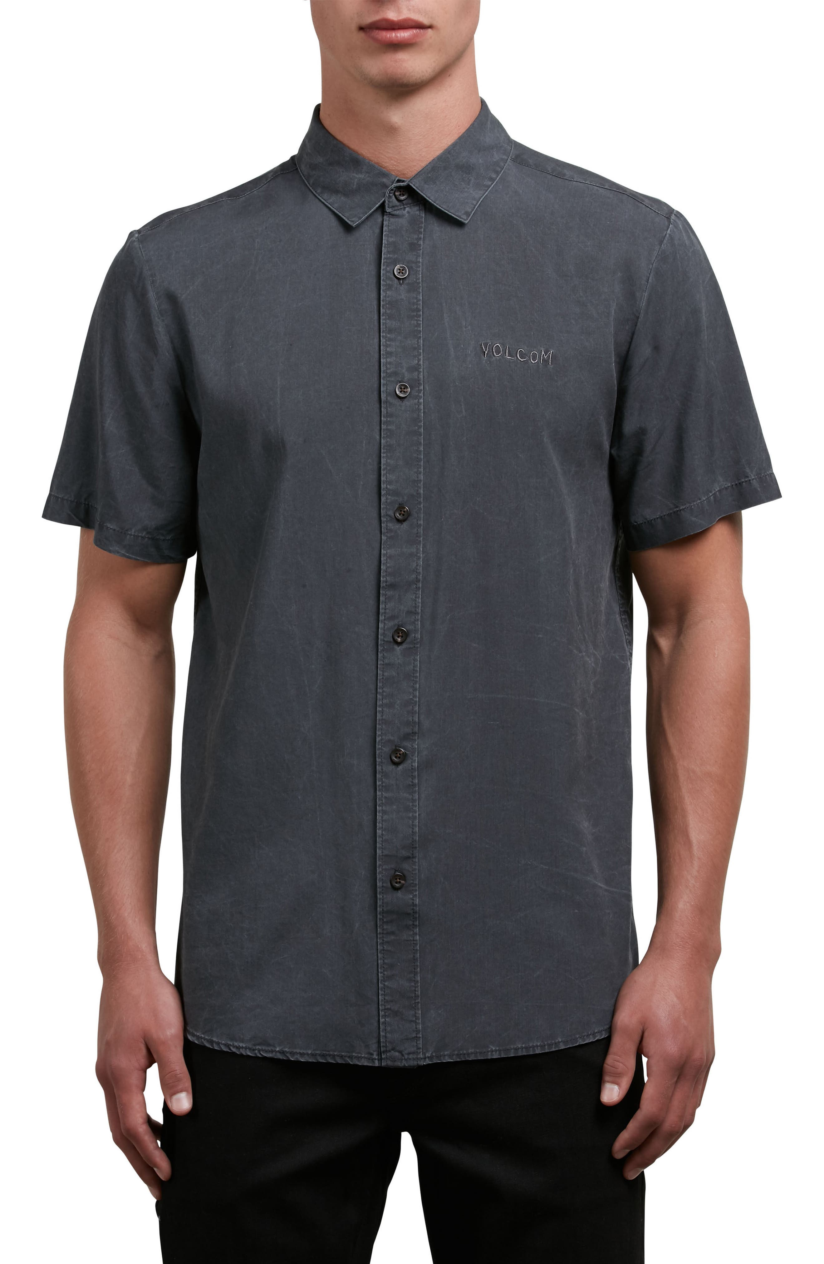 Chill Out Woven Shirt,                             Main thumbnail 1, color,                             Black