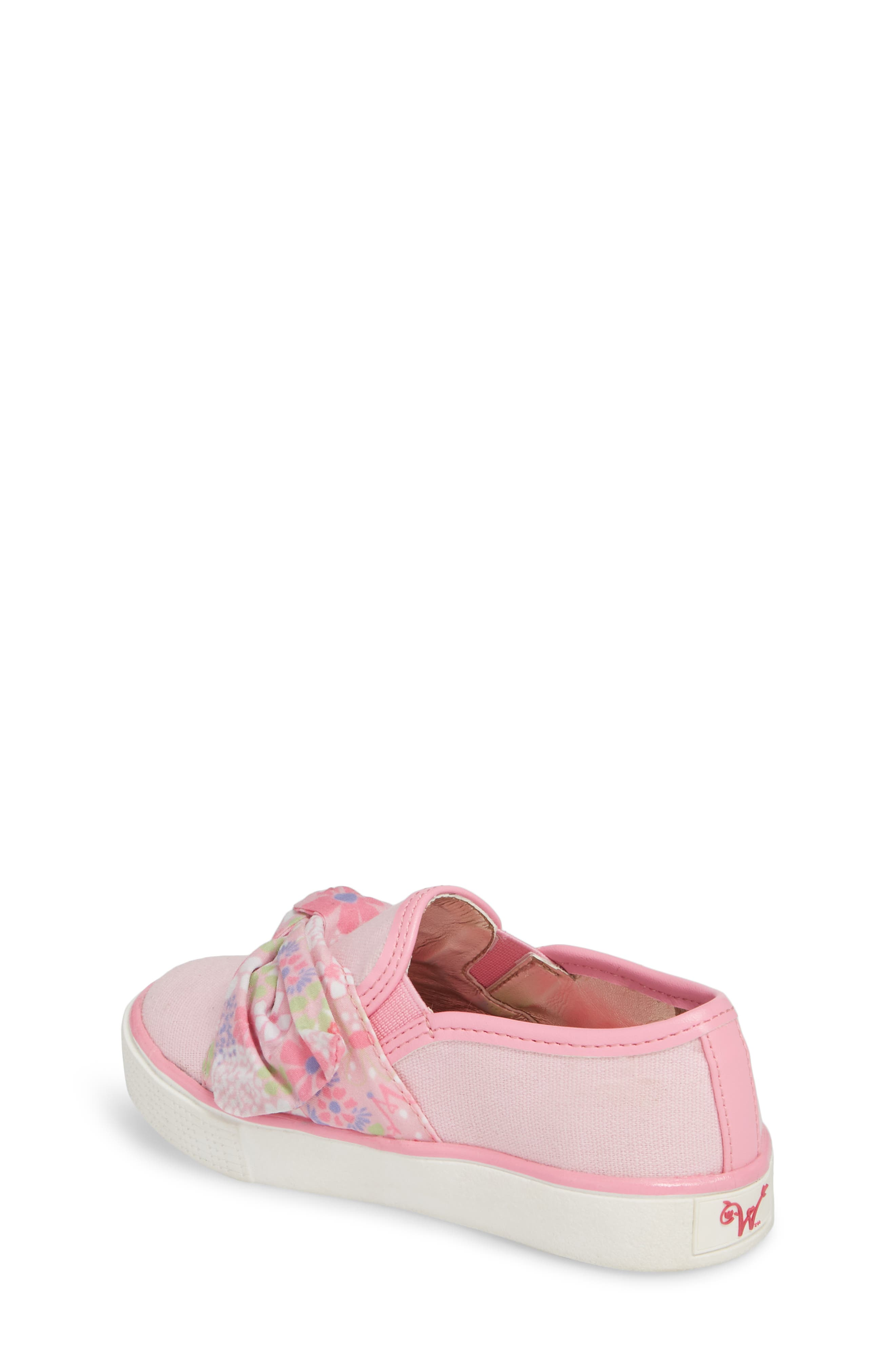 Ashlyn Bow Slip-On Sneaker,                             Alternate thumbnail 3, color,                             Orchid Pink