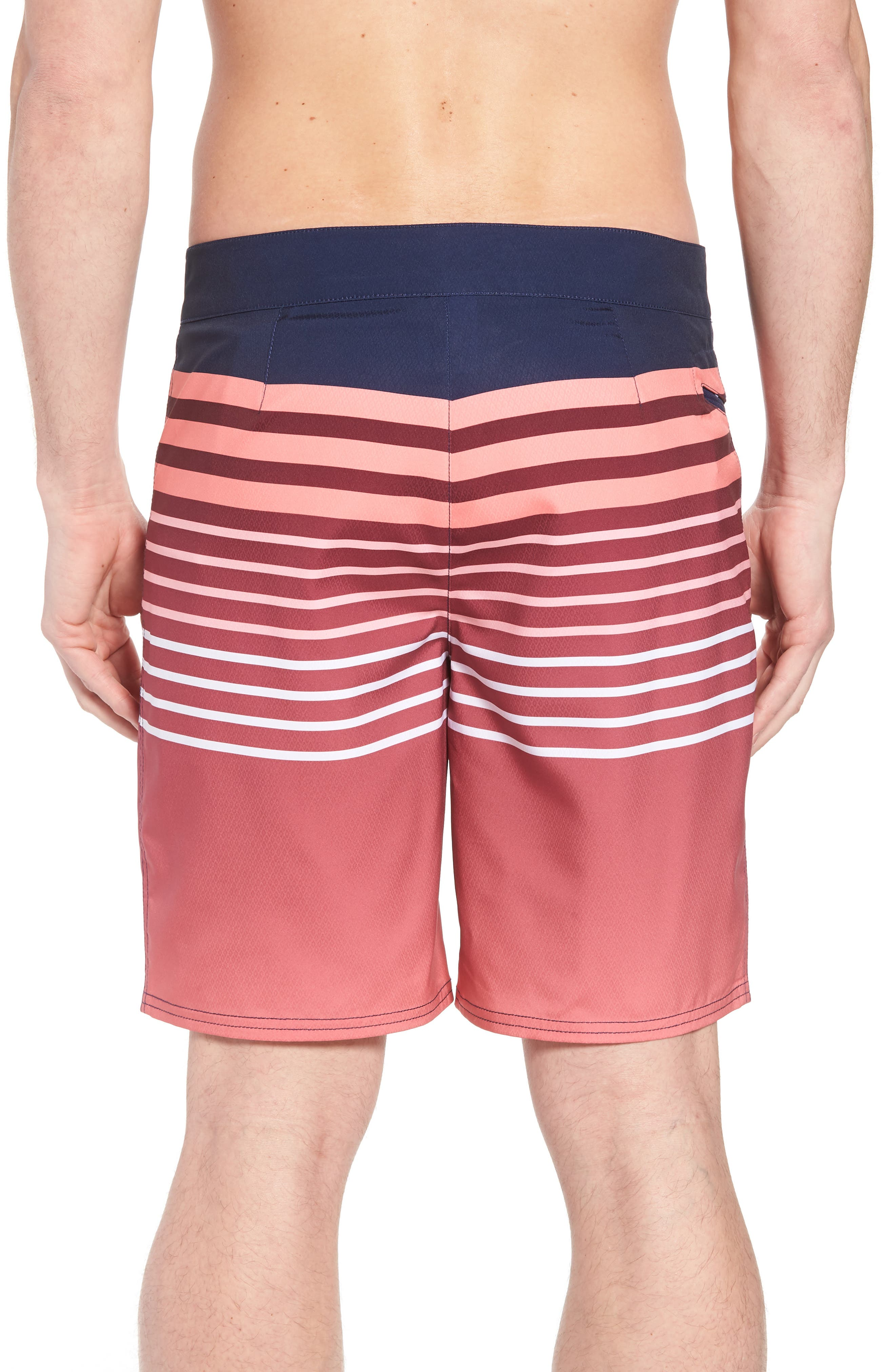 Surflodge Stripe Board Shorts,                             Alternate thumbnail 2, color,                             Jetty Red