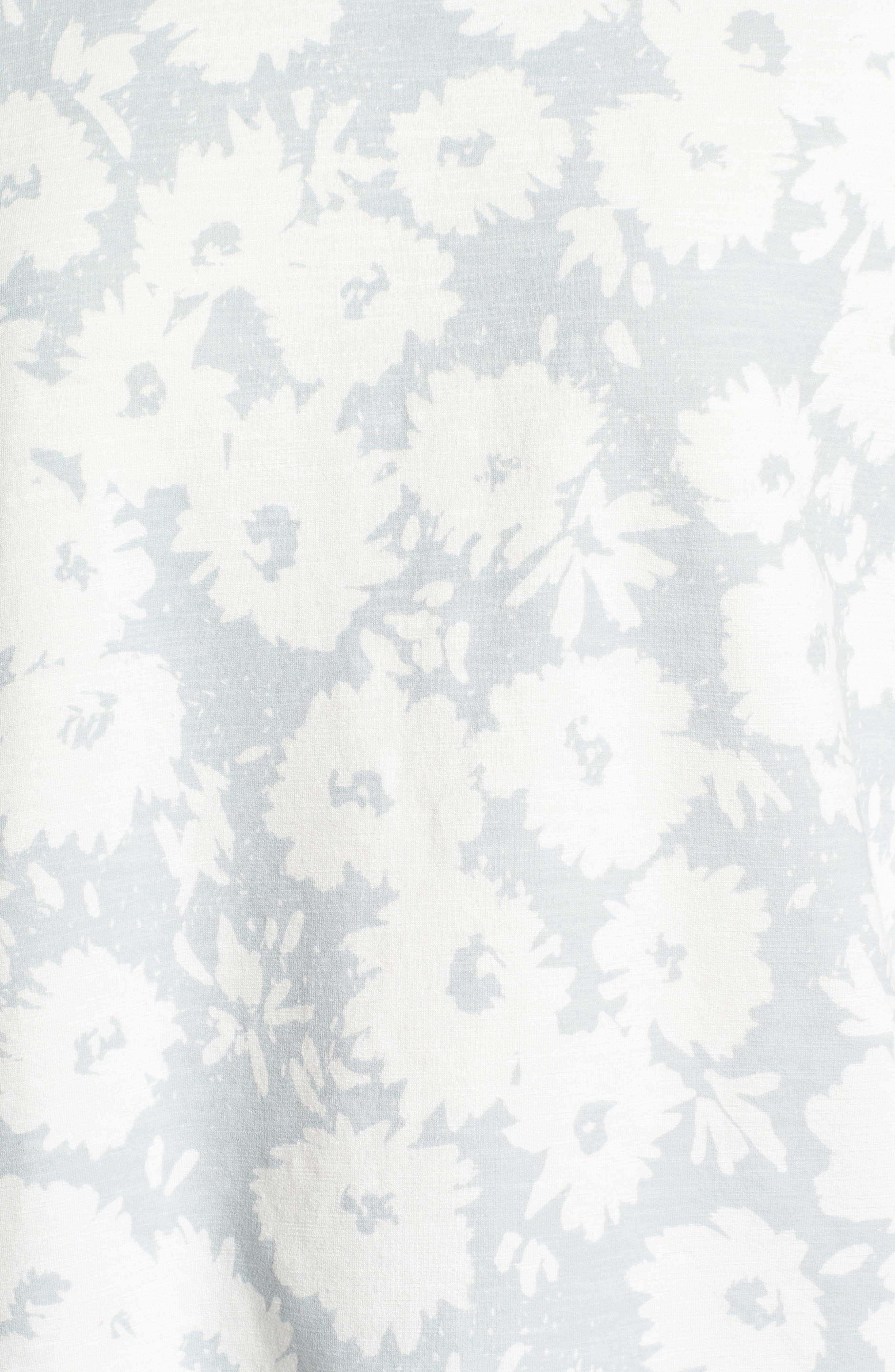 Kimono Sweatshirt,                             Alternate thumbnail 6, color,                             Sky/ White