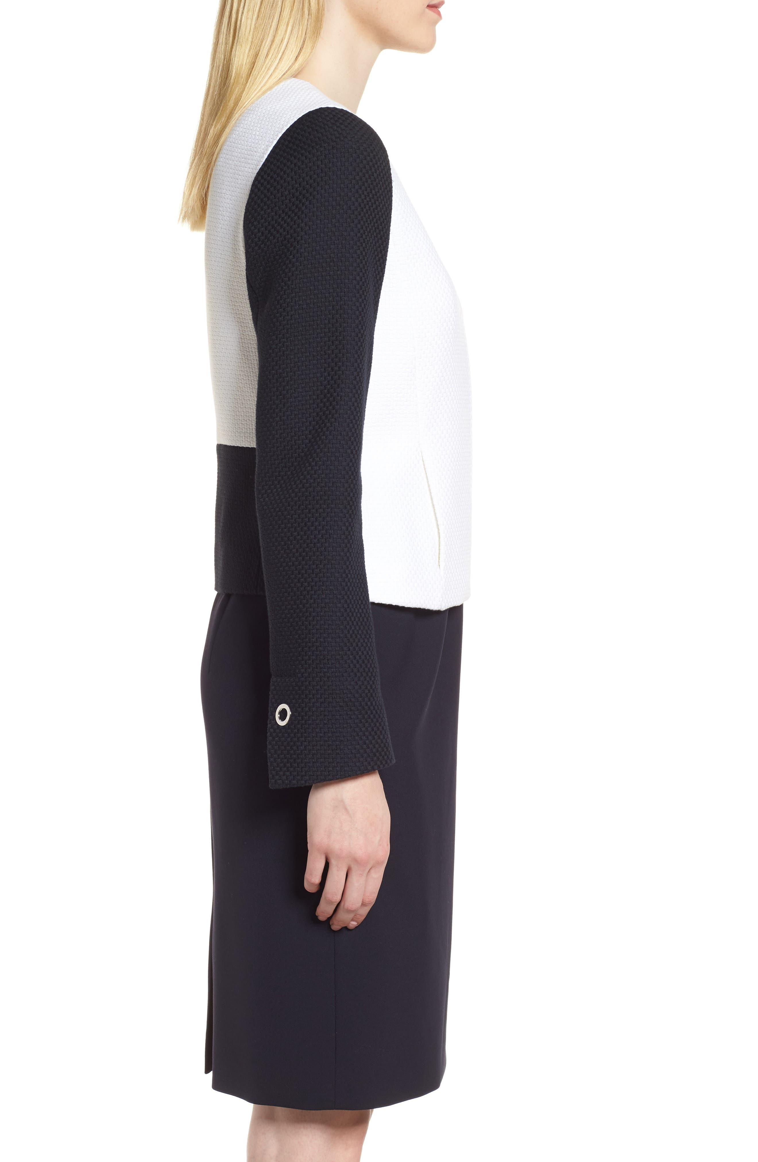 Alternate Image 3  - BOSS Coralie Colorblock Jacket