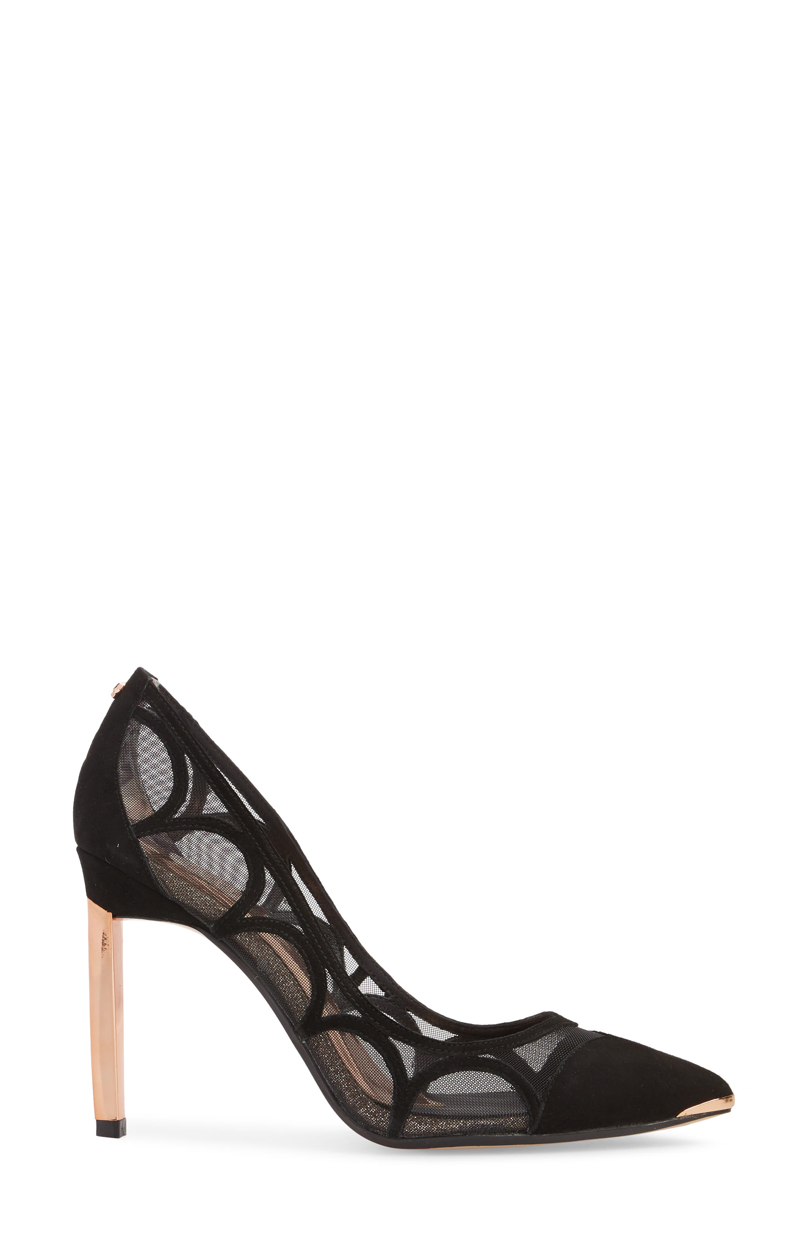 Awletas Pump,                             Alternate thumbnail 3, color,                             Black Satin