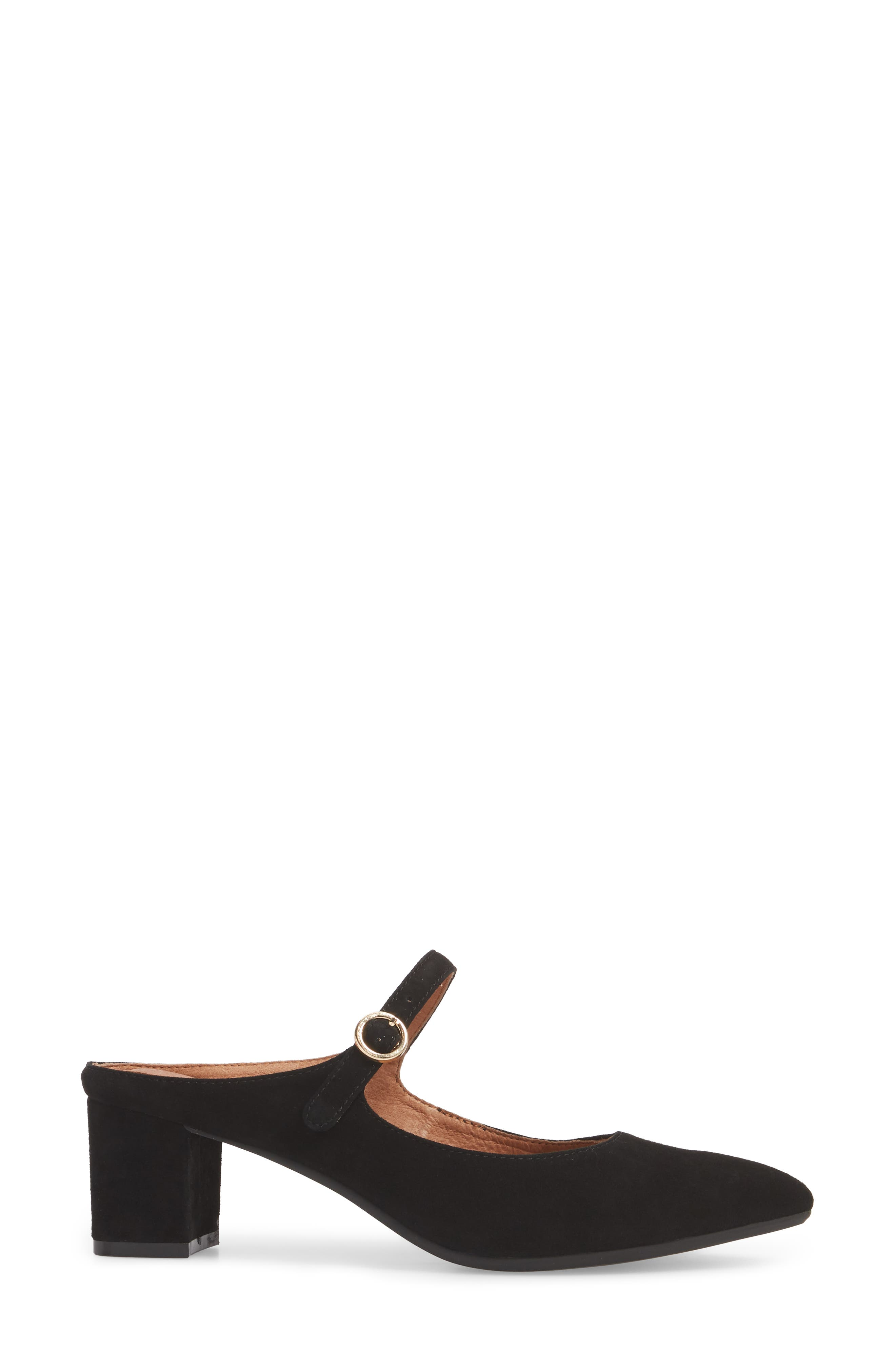 Barletta Mary Jane Mule,                             Alternate thumbnail 3, color,                             Black Suede