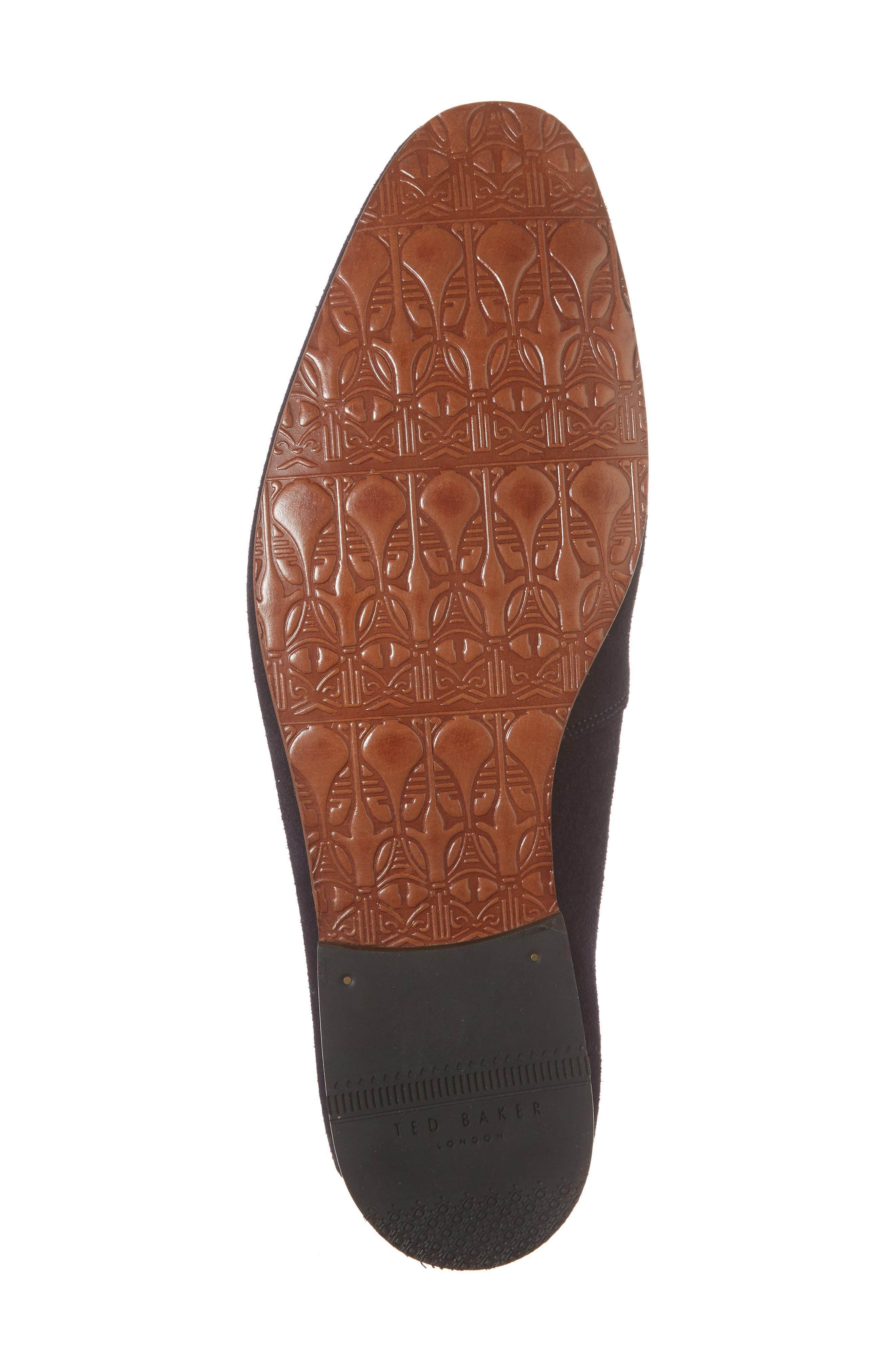 Hoppken Convertible Knotted Loafer,                             Alternate thumbnail 6, color,                             Dark Blue Suede
