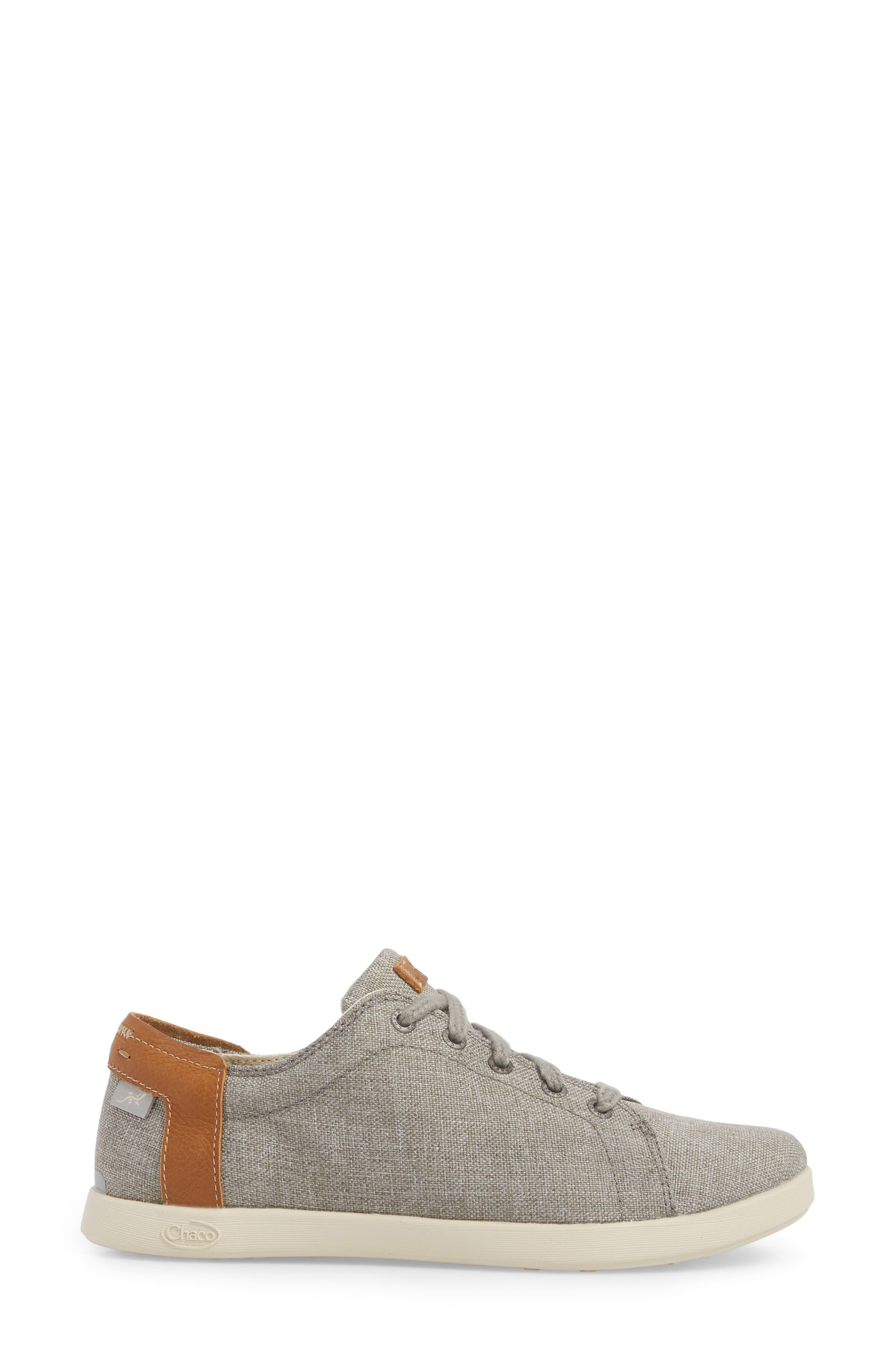 Ionia Sneaker,                             Alternate thumbnail 3, color,                             Gray Canvas