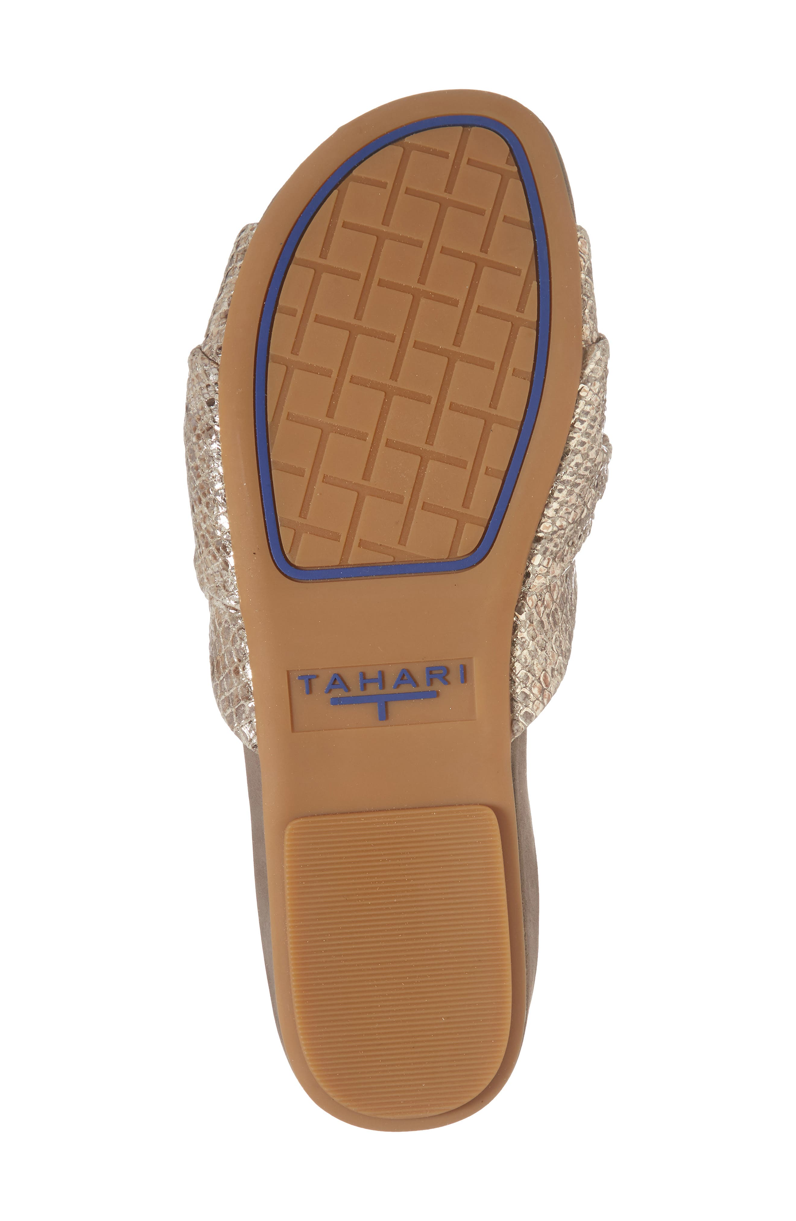 Lauren Slide Sandal,                             Alternate thumbnail 6, color,                             Taupe-Gold Suede