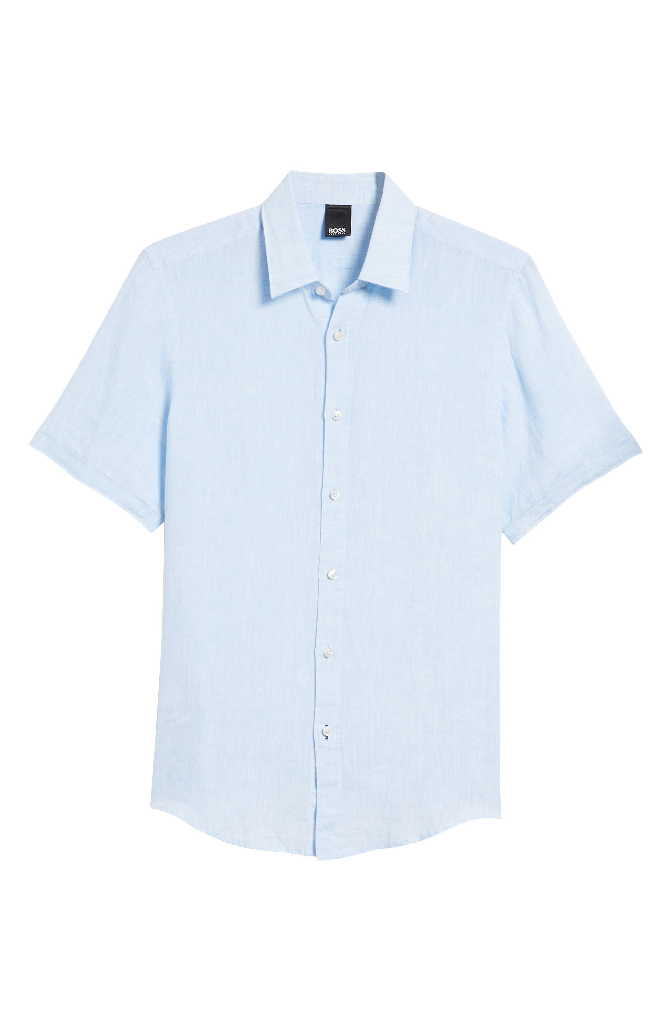 Luka Slim Fit Sport Shirt,                             Alternate thumbnail 6, color,                             Blue