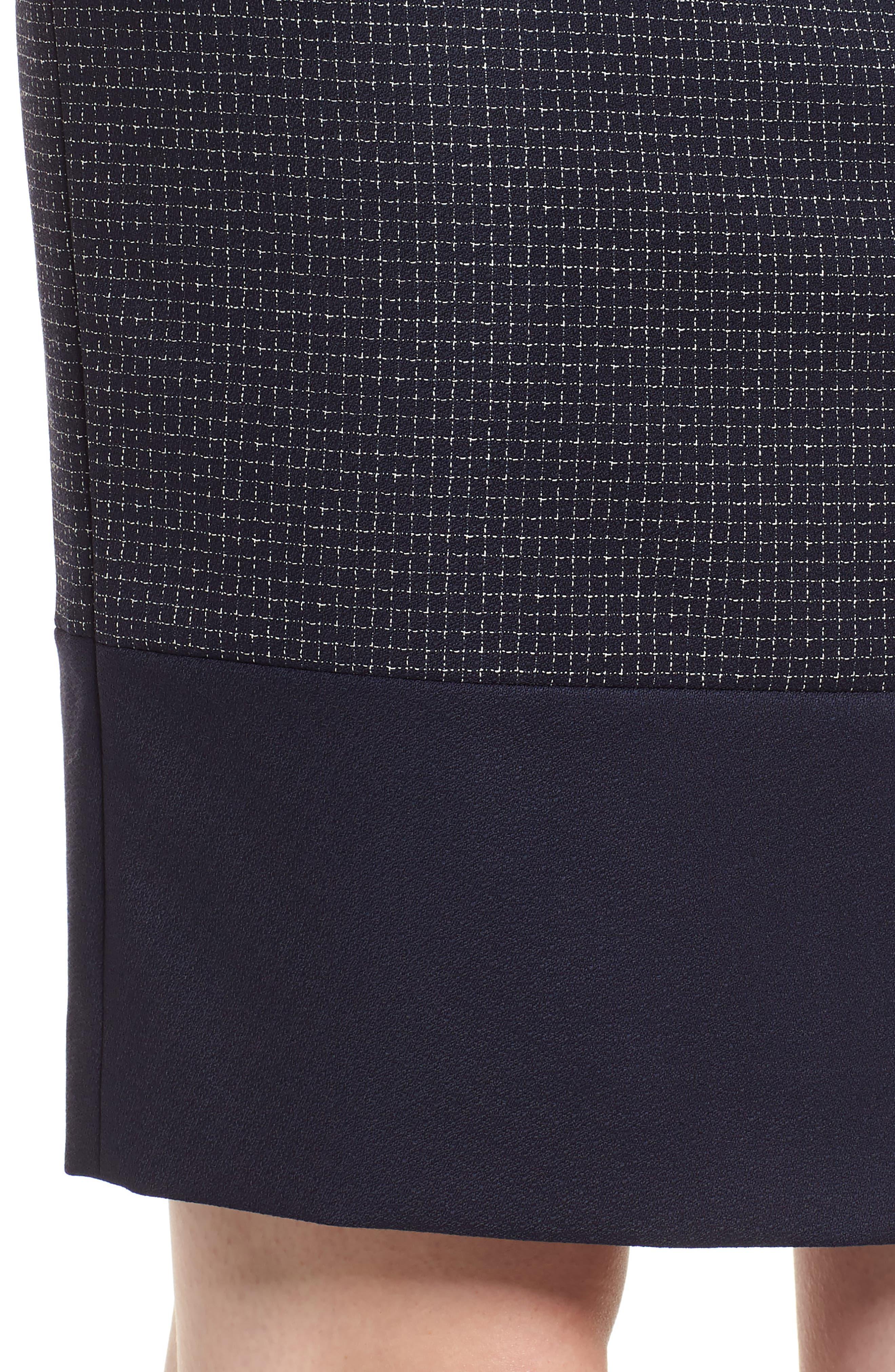 Vibena Windowpane Skirt,                             Alternate thumbnail 4, color,                             Vanilla Light Fantasy