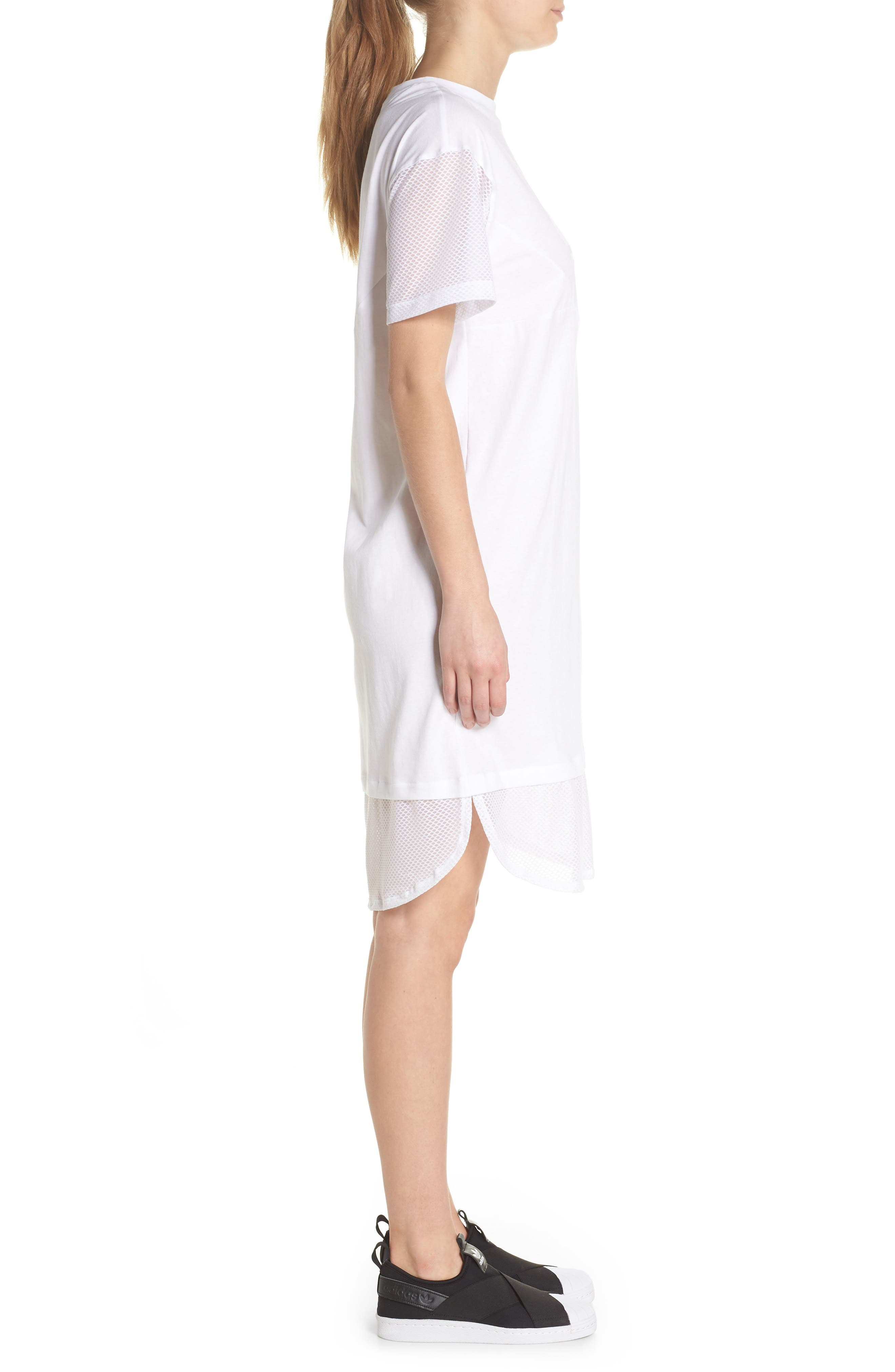 CLRDO T-Shirt Dress,                             Alternate thumbnail 3, color,                             White