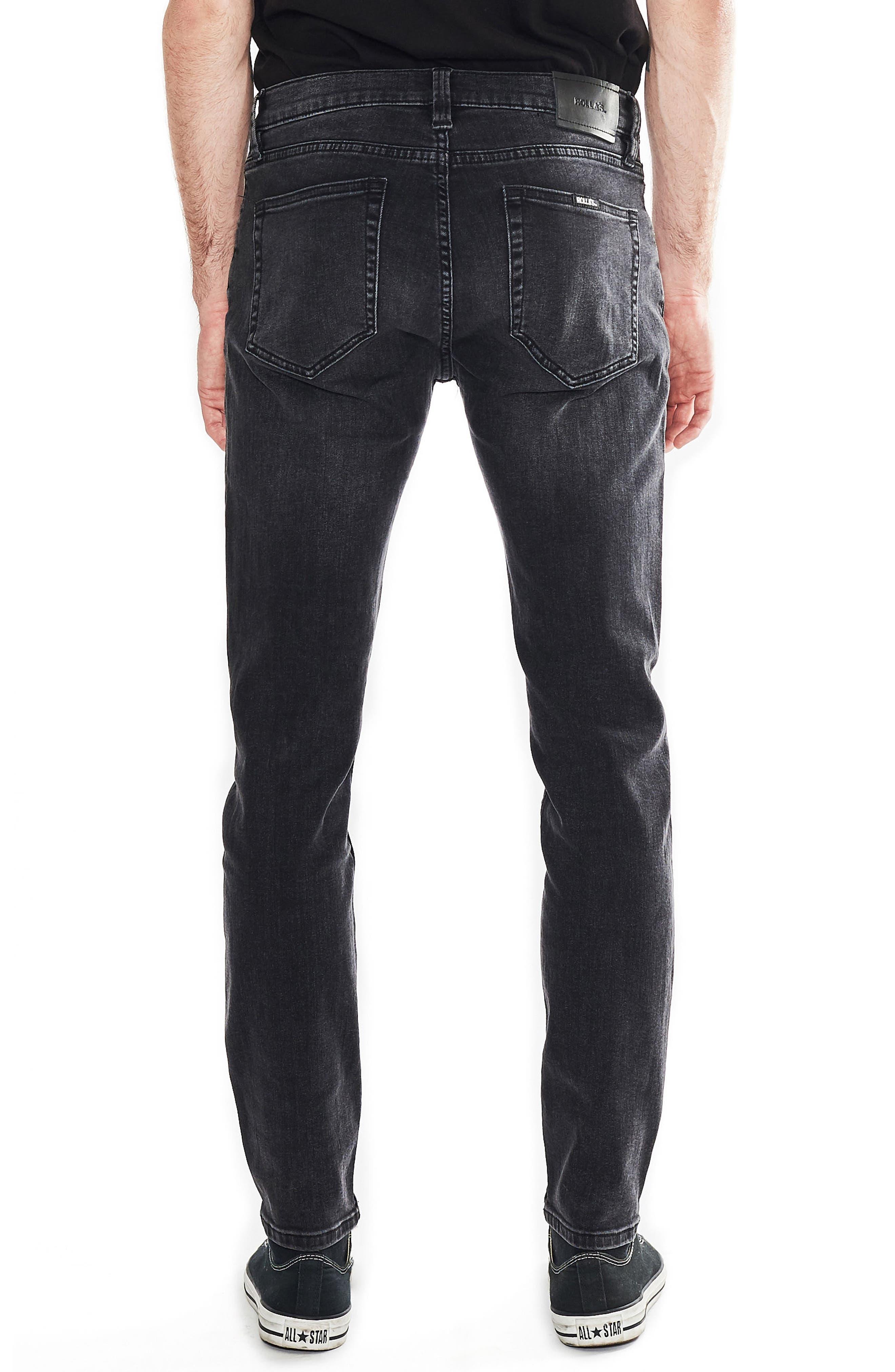 Stinger Skinny Fit Jeans,                             Alternate thumbnail 2, color,                             Black Hole