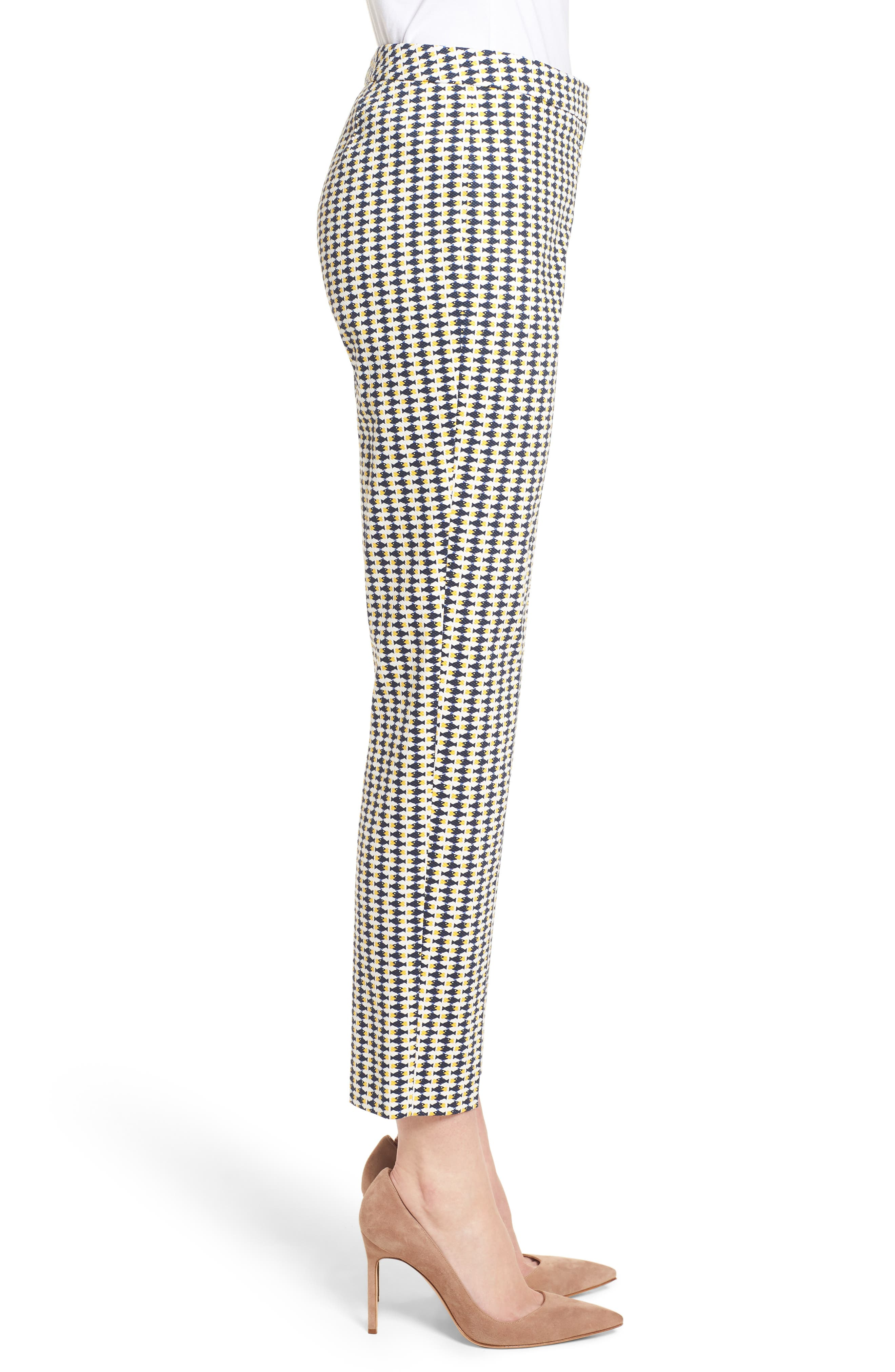 Tiluna6 Heartfish Slim Ankle Trousers,                             Alternate thumbnail 3, color,                             Heart Fishes