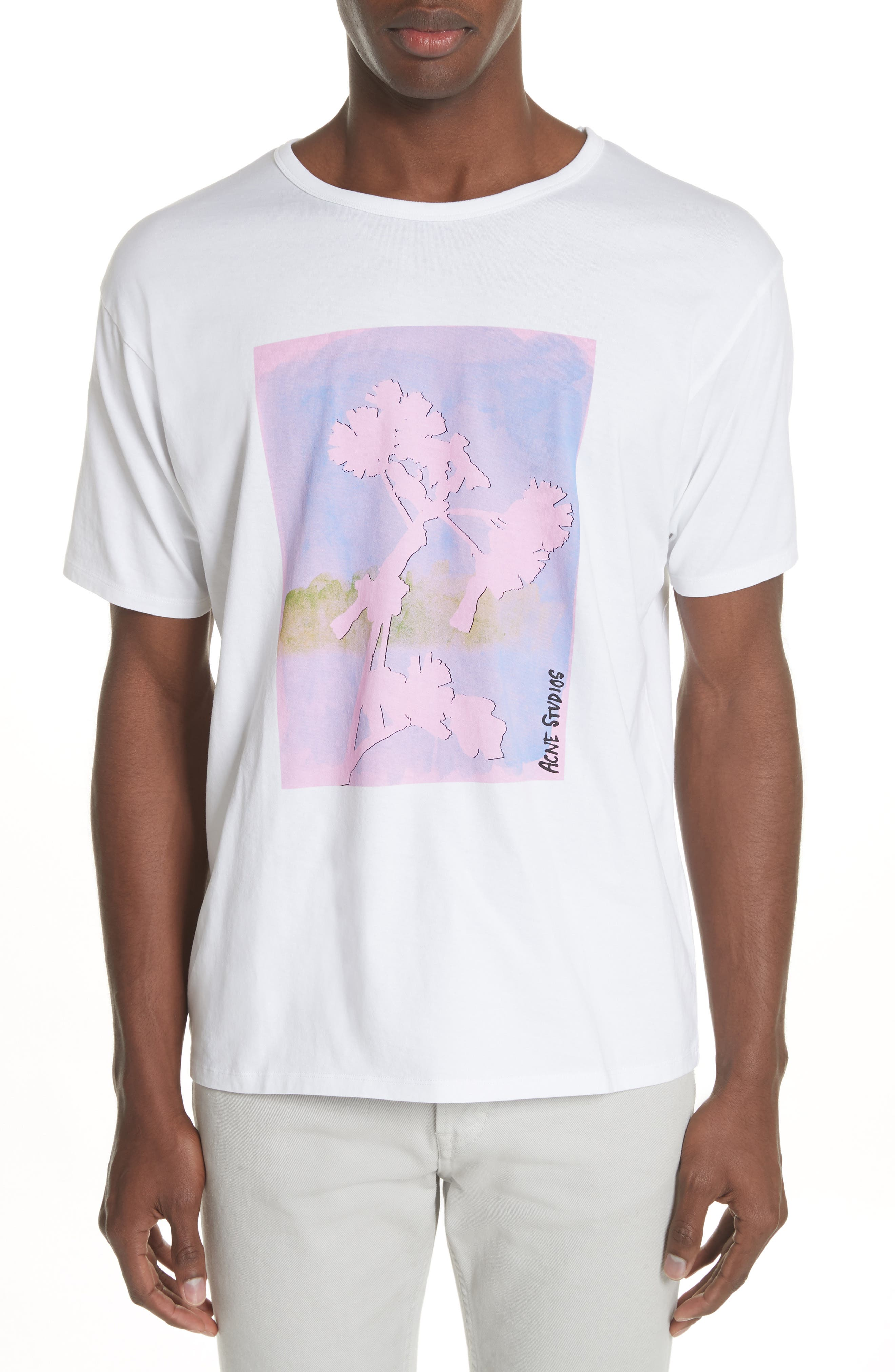 Niave Flower Graphic T-Shirt,                             Main thumbnail 1, color,                             Optic White